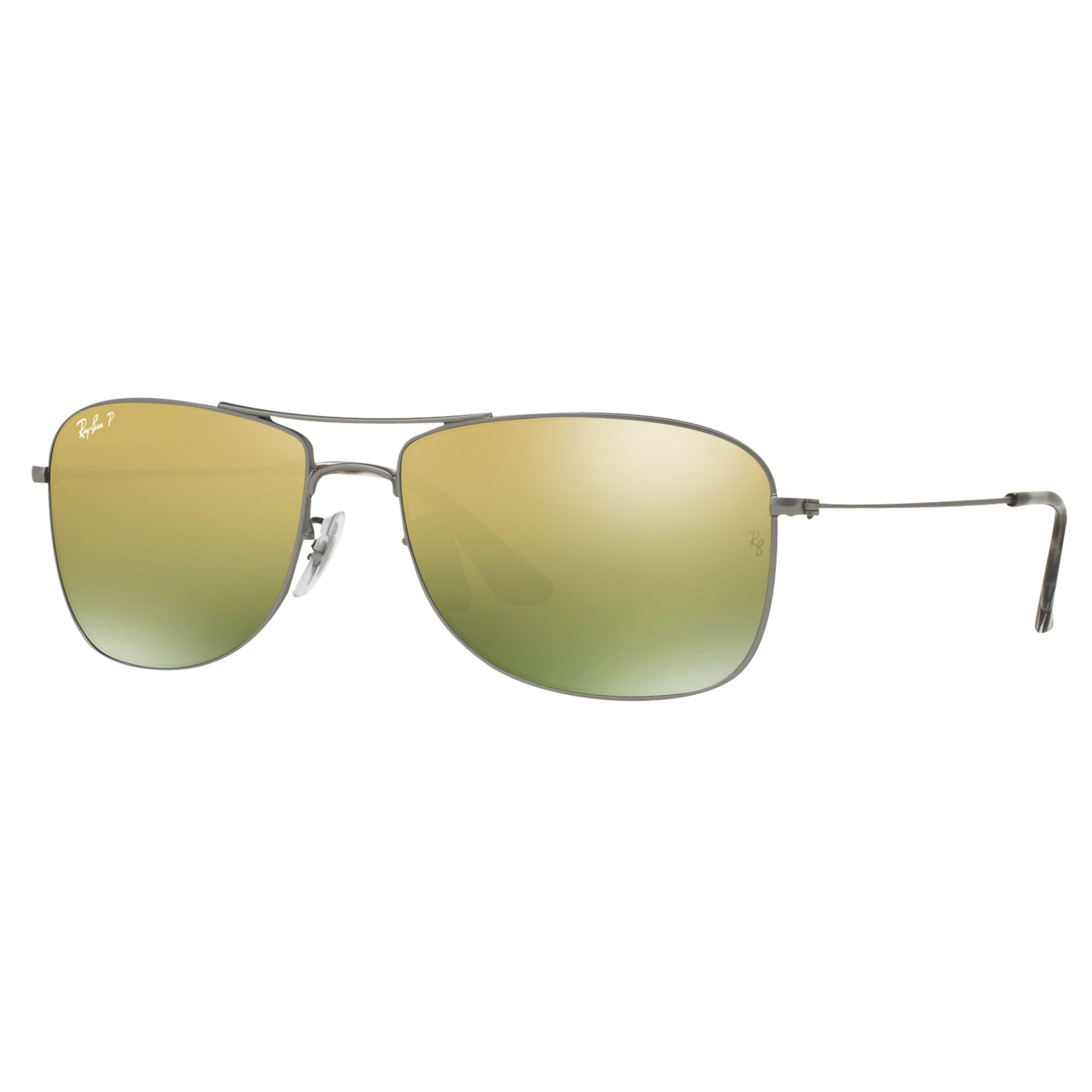 6fc112428a Ray-Ban Rb3543 Polarised Aviator Sunglasses in Gray - Lyst