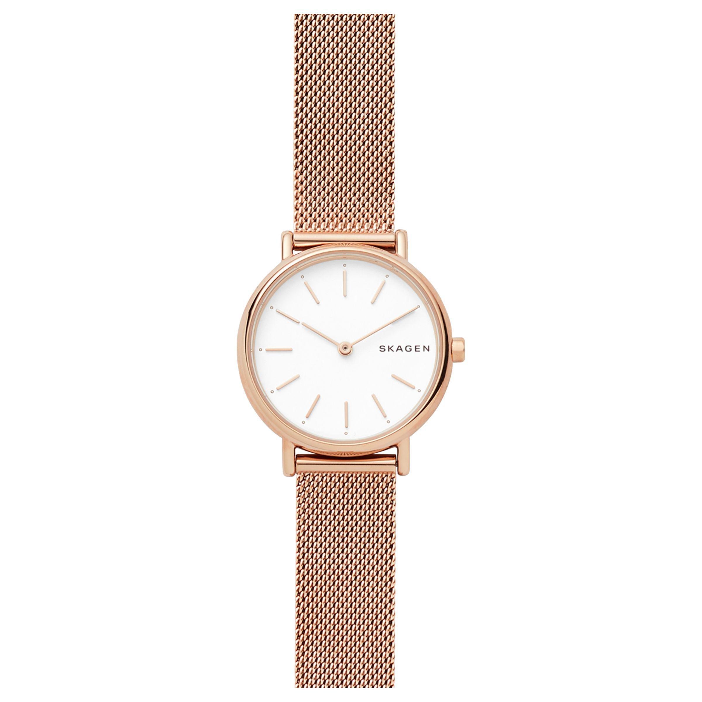 c71c84180ec Skagen - White Women s Signatur Mesh Bracelet Strap Watch - Lyst. View  fullscreen