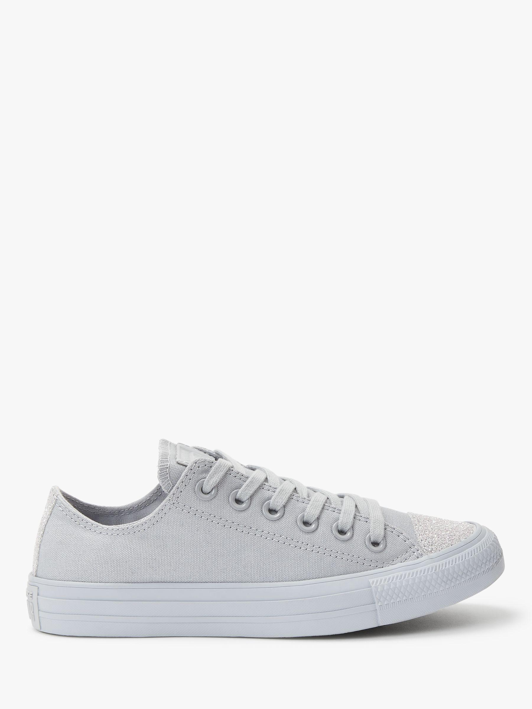 ea3695615afb Converse Women s Chuck Taylor Glitter Trainers in Gray - Lyst