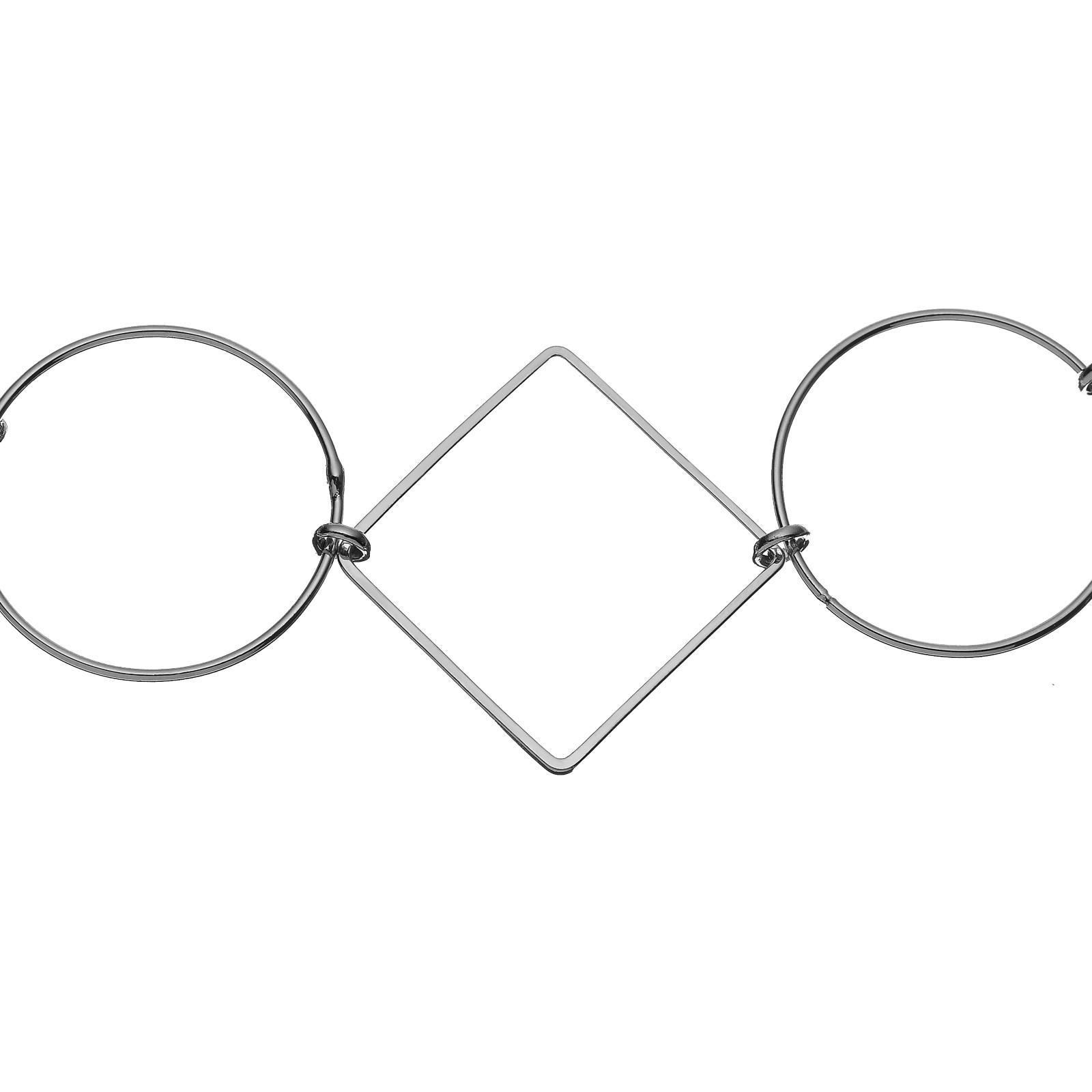 John Lewis Geometric Shape Necklace in Silver (Metallic)