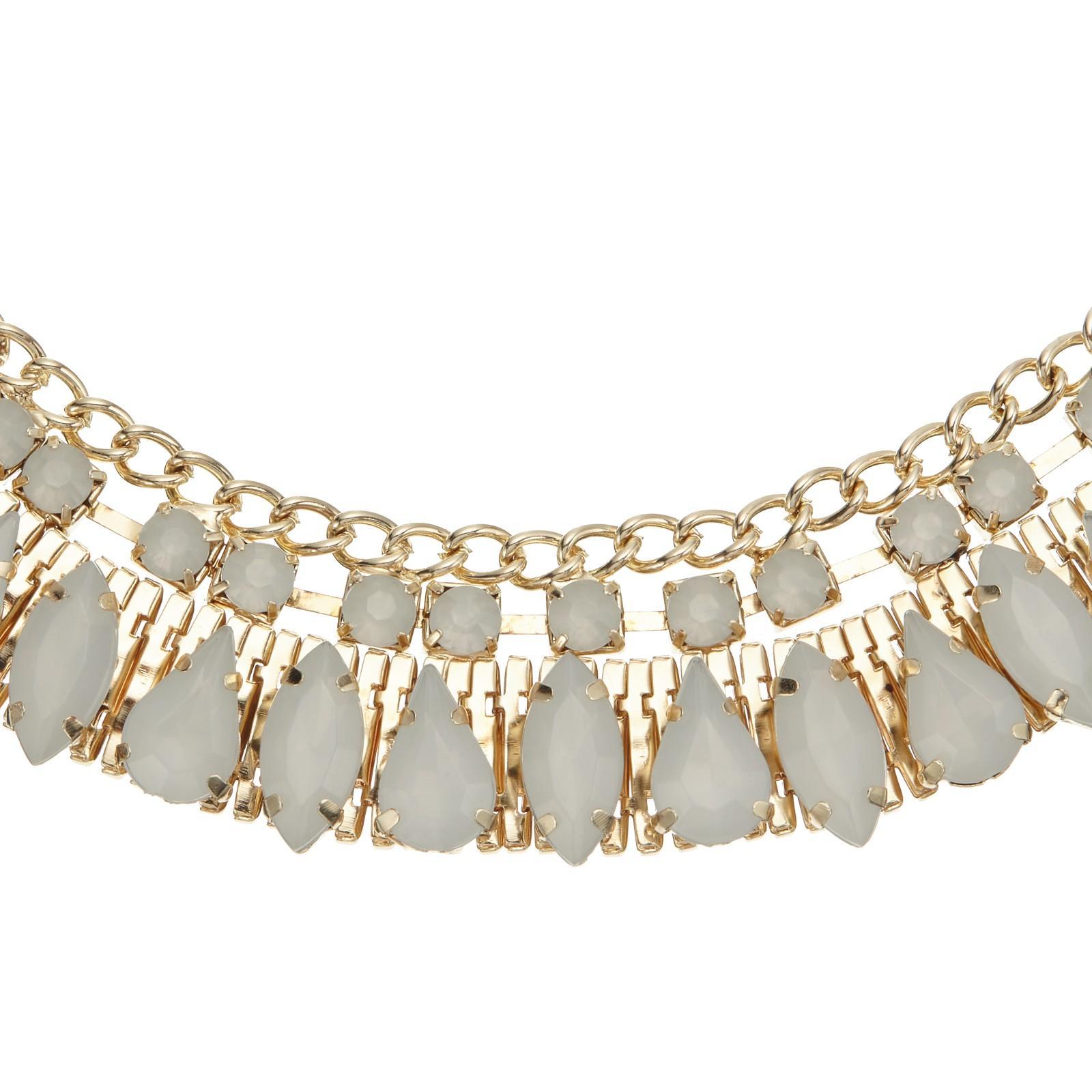 John Lewis Stone Set Collar Necklace in Gold (Metallic)