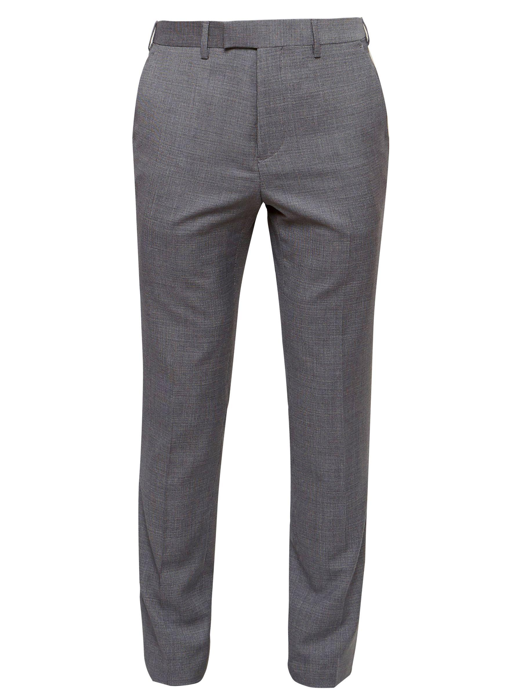 Ted Baker Tippedj Wool Semi Plain Tailored Suit Trousers in Grey (Grey) for Men