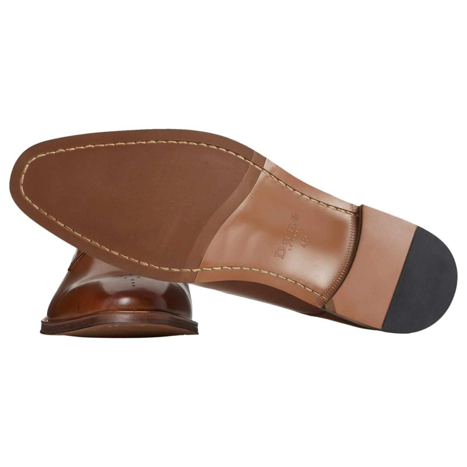 Dune Placebo Gibson Shoes in Tan (Brown) for Men