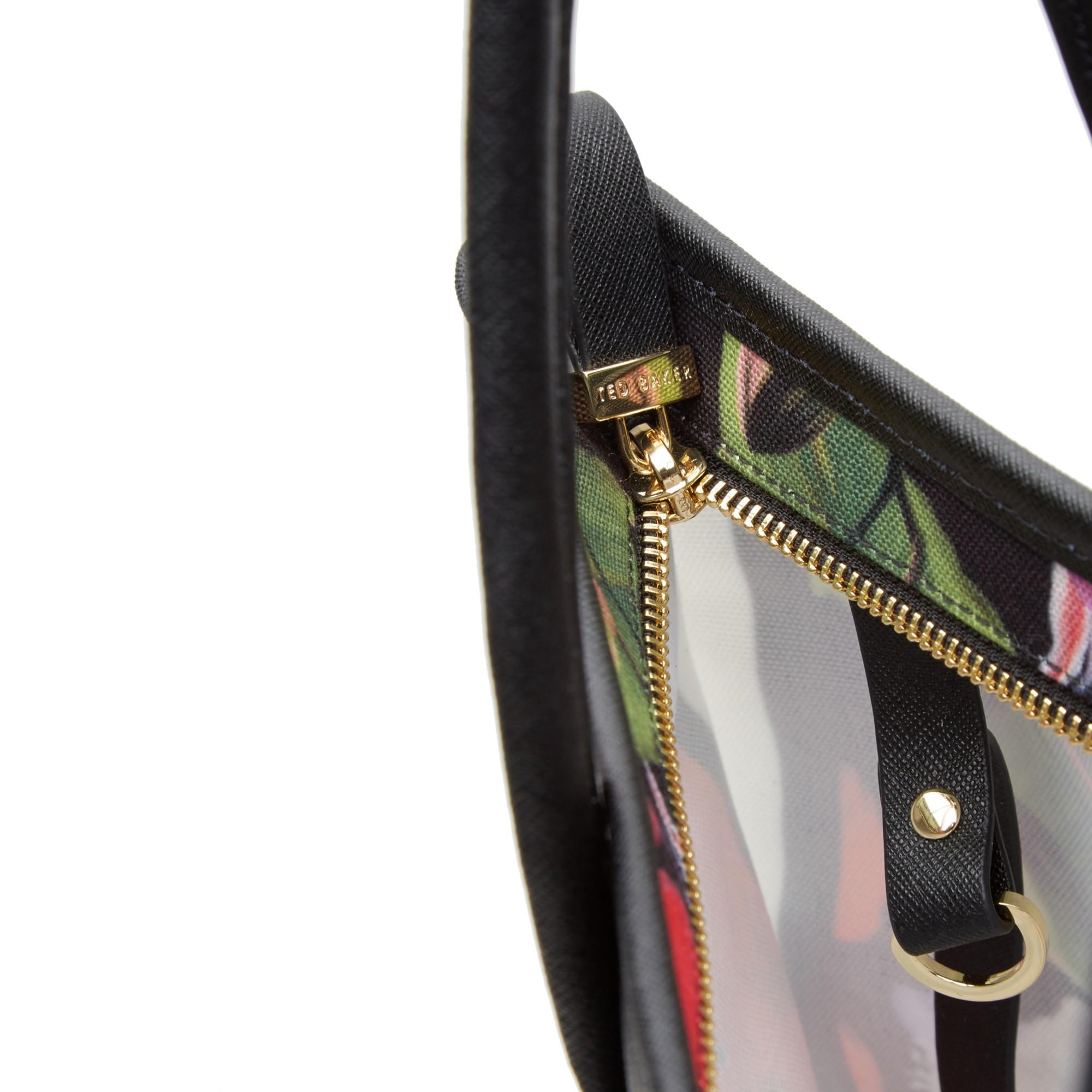 Ted Baker Synthetic Hanita Forget Me Not Foldaway Tote Bag in Black