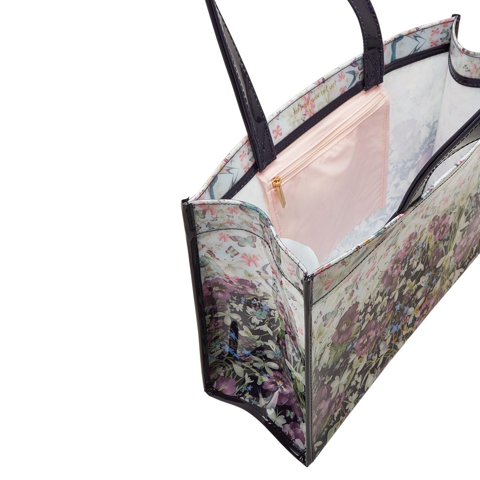 edb3a299e919e Lyst - Ted Baker Entangled Enchantment Shopper Bag And Flip Flop Set ...