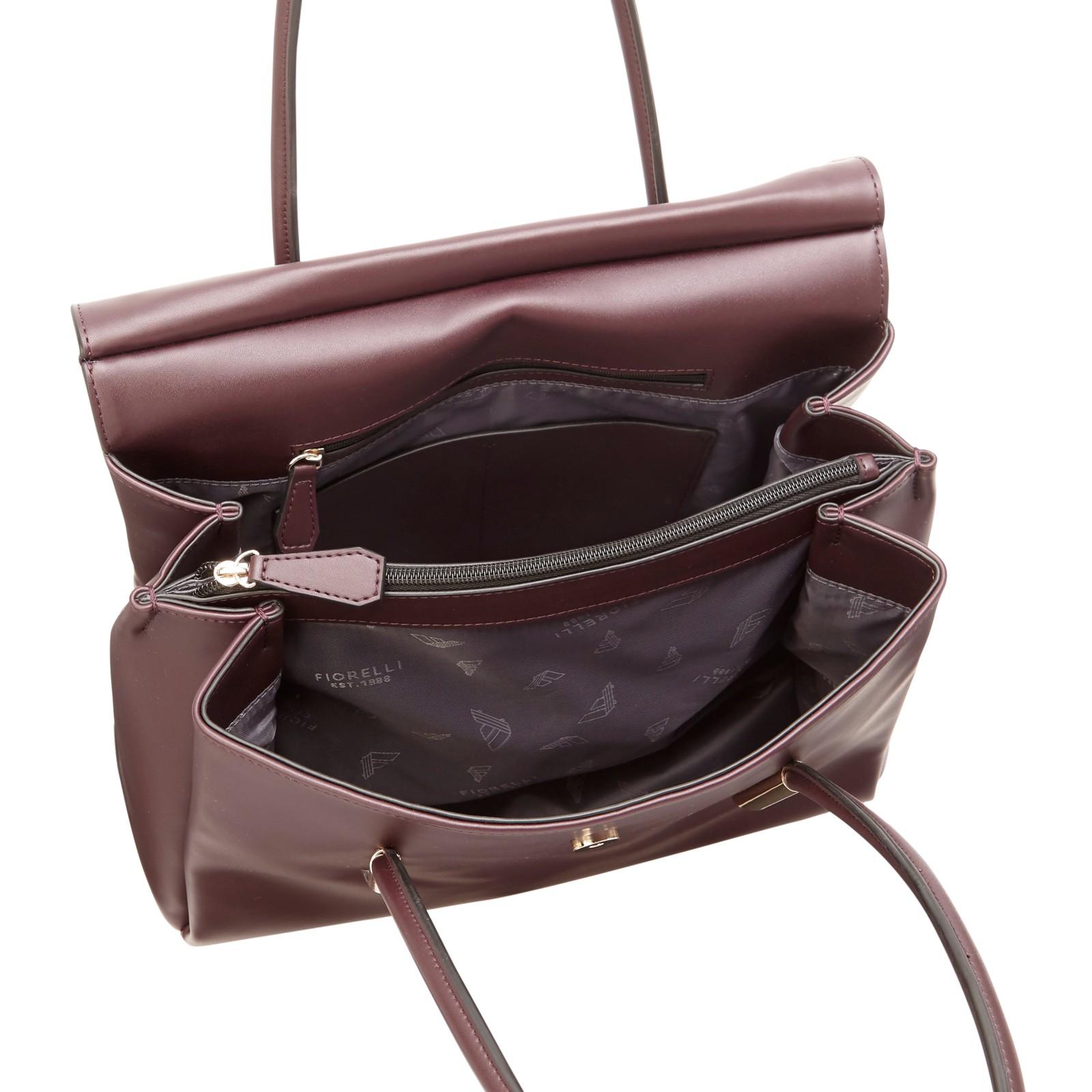 Fiorelli Synthetic Carlton Flap-over Tote Bag in Purple