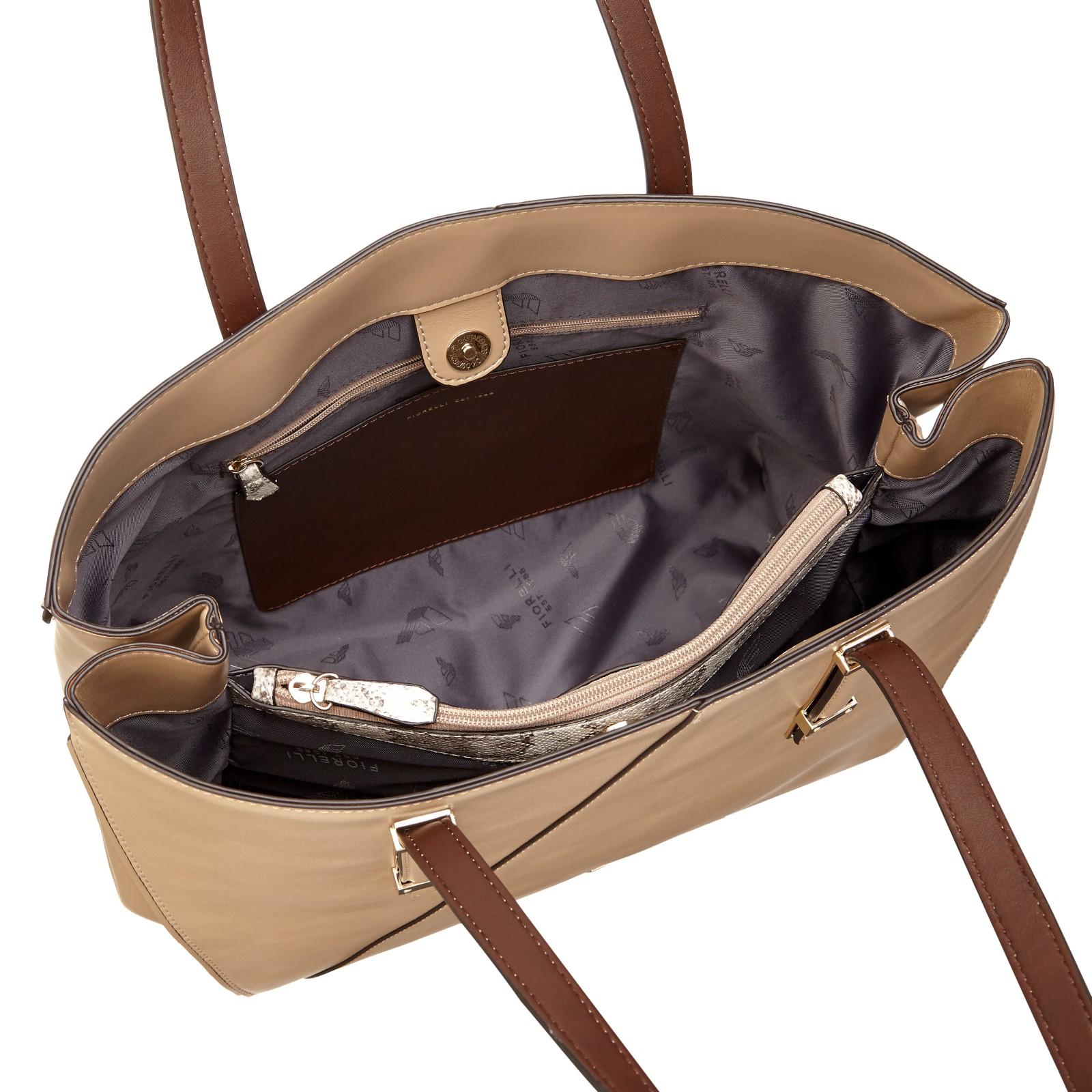 Fiorelli Leather Sloane Mini Tote Bag in Natural