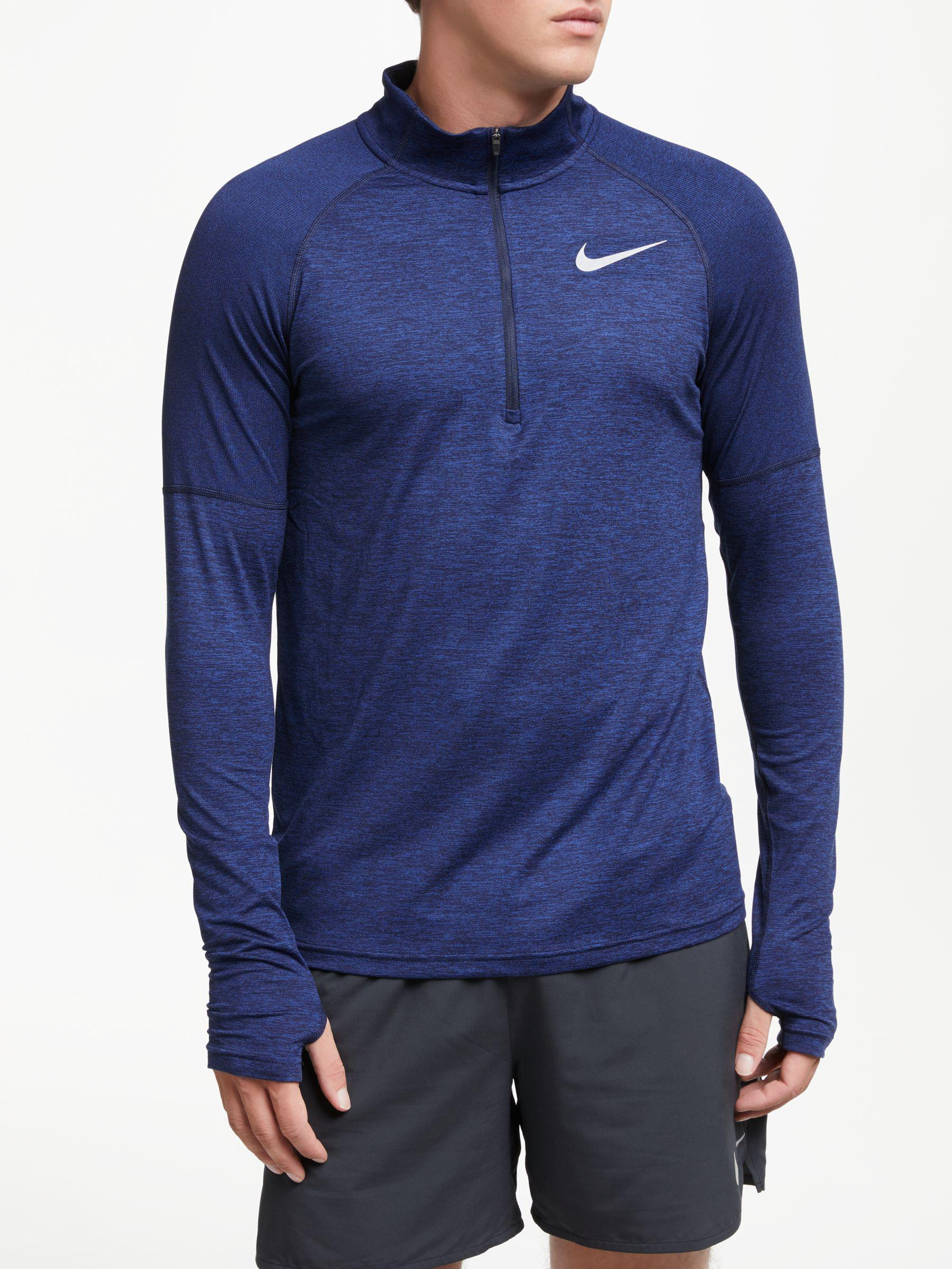 299b8da09c7a Nike Dry Element 1 2 Zip Running Top in Blue for Men - Lyst