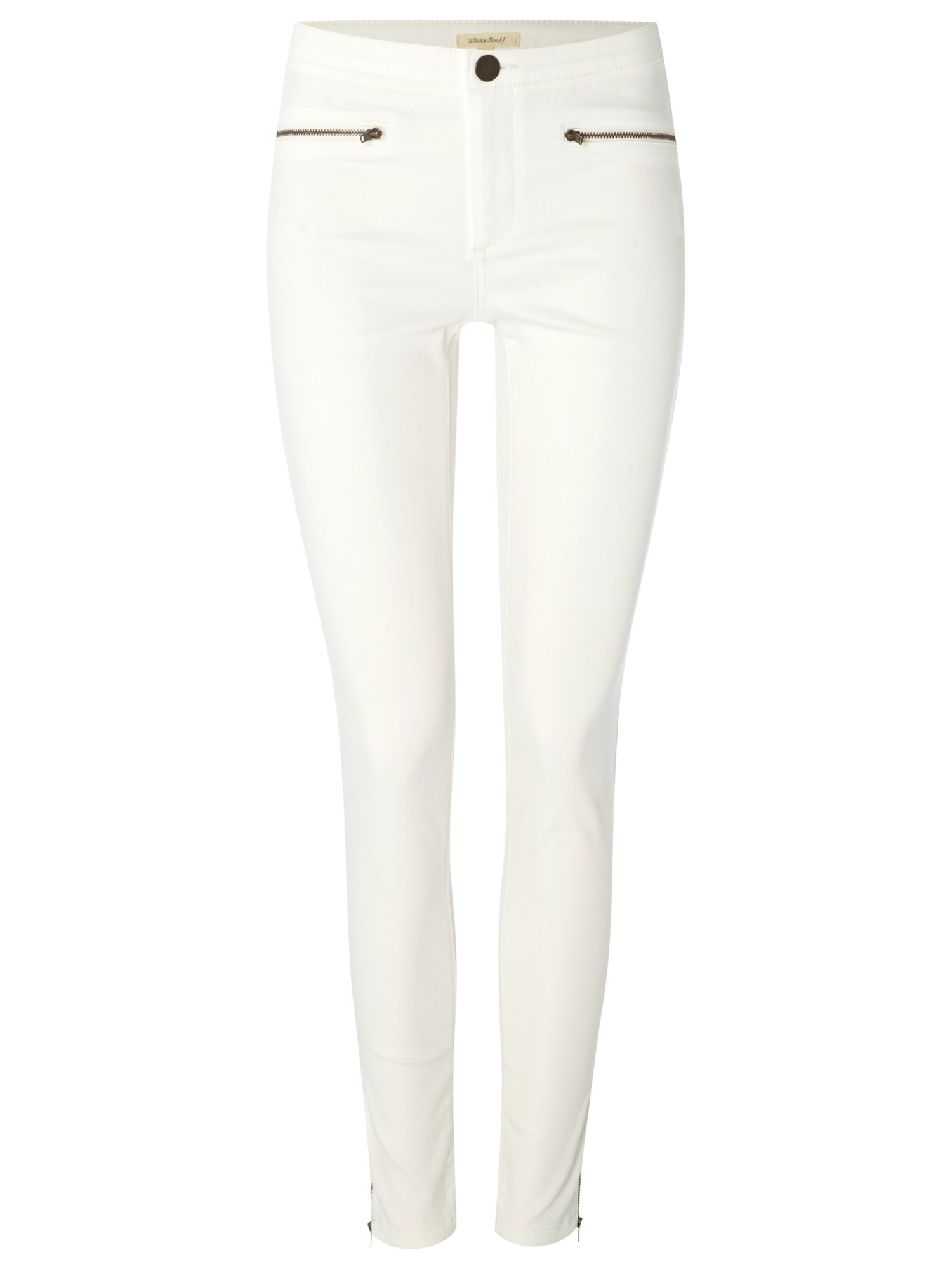 White Stuff Jenny Zip Jeggings in White