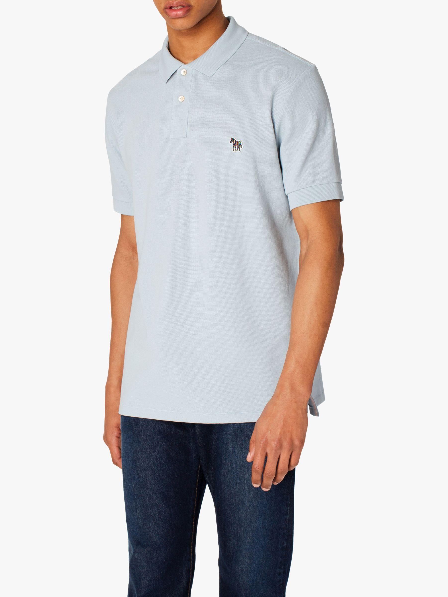 f7bd0c22 Paul Smith. Men's Blue Ps Pique Zebra Polo Shirt. £65 From John Lewis and  Partners