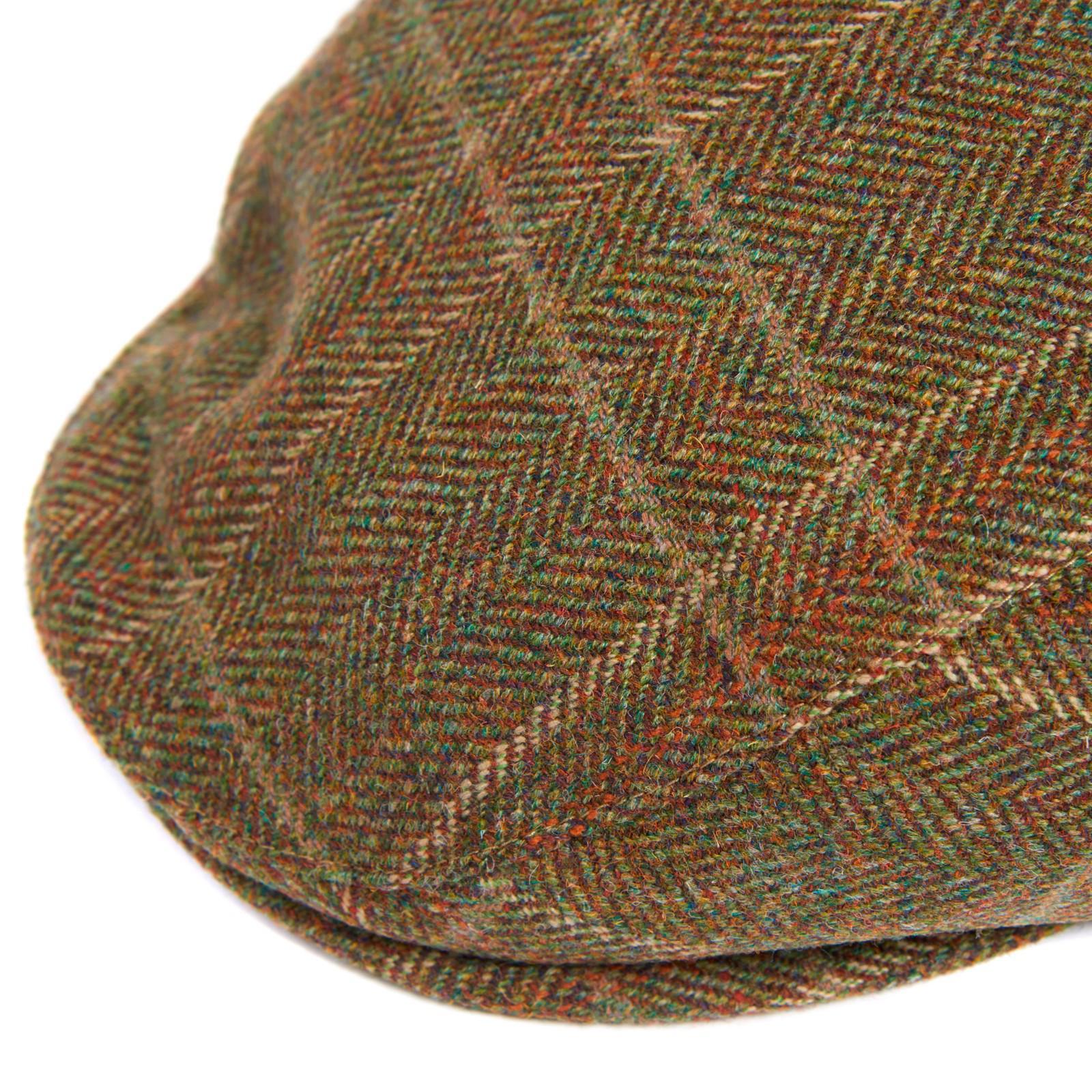 04e8d5d6a Barbour Green Wool Crieff Flat Cap for men