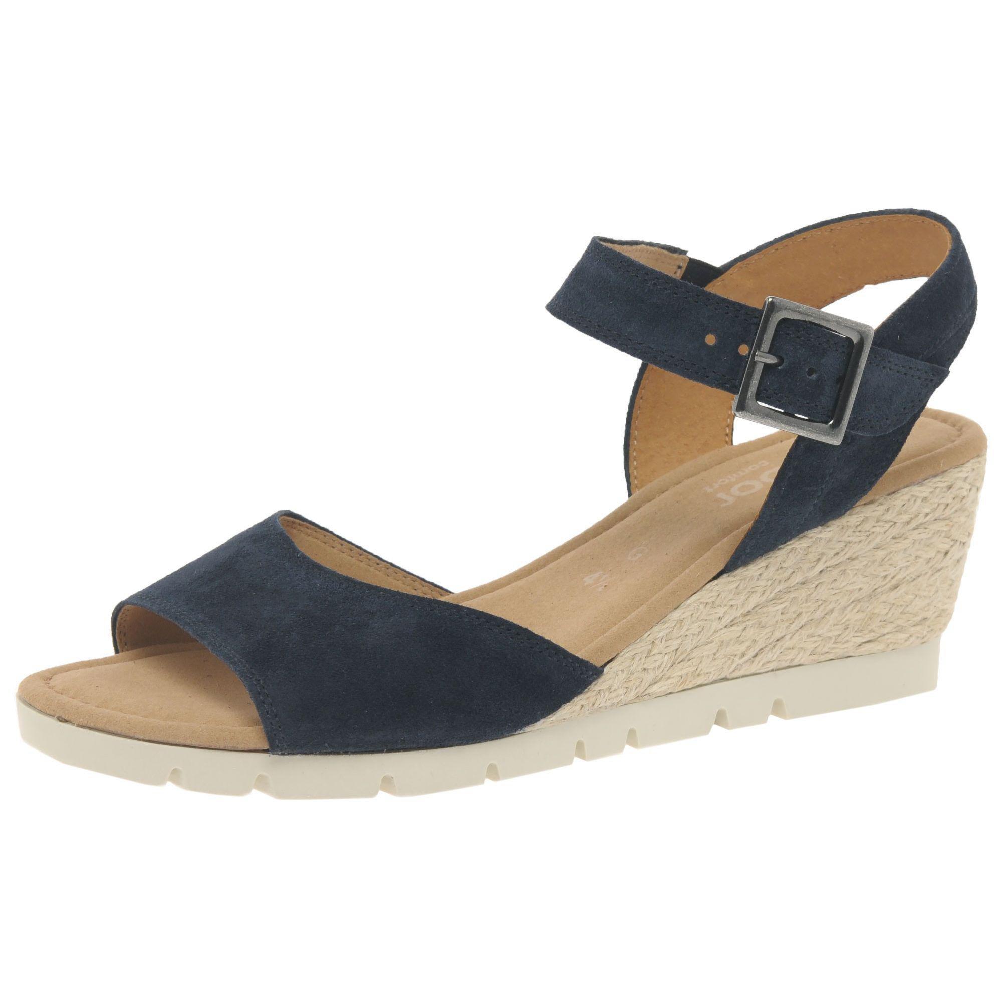 f3b4bd6339 John Lewis Gabor Nieve Wide Wedge Heeled Sandals in Blue - Lyst