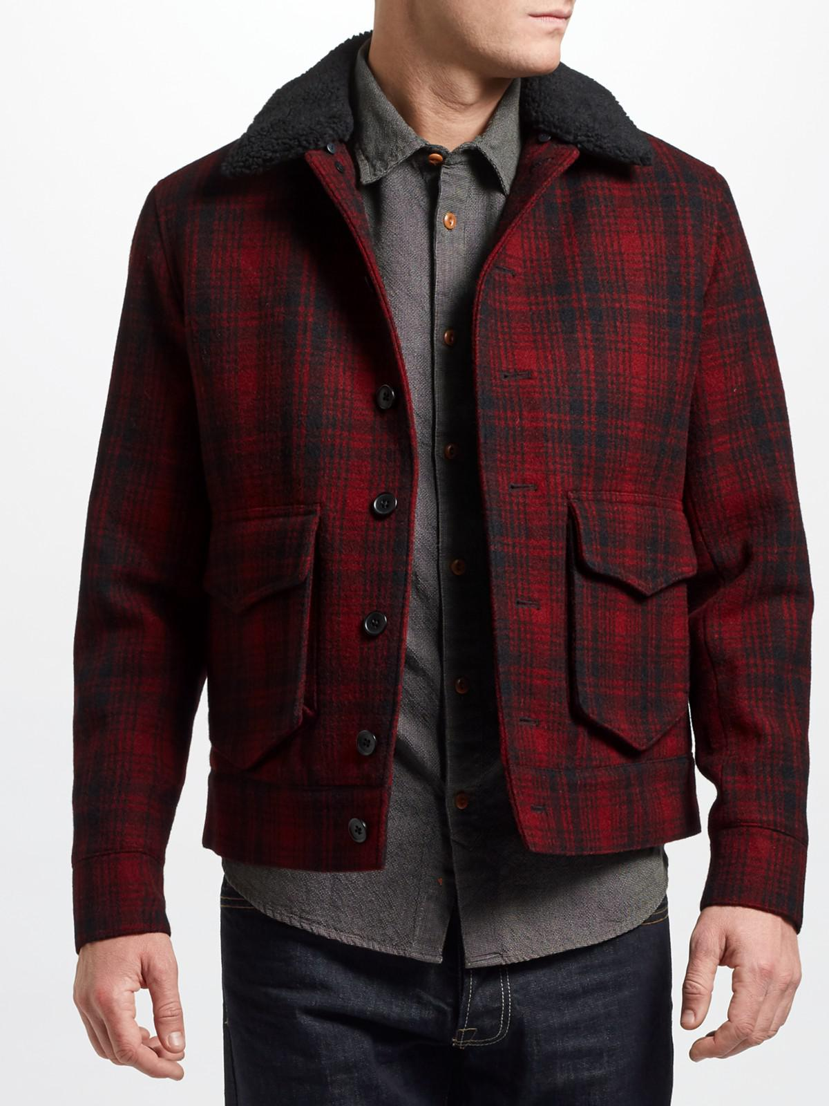 Banks Lumber Jacket Mens In Red Previous
