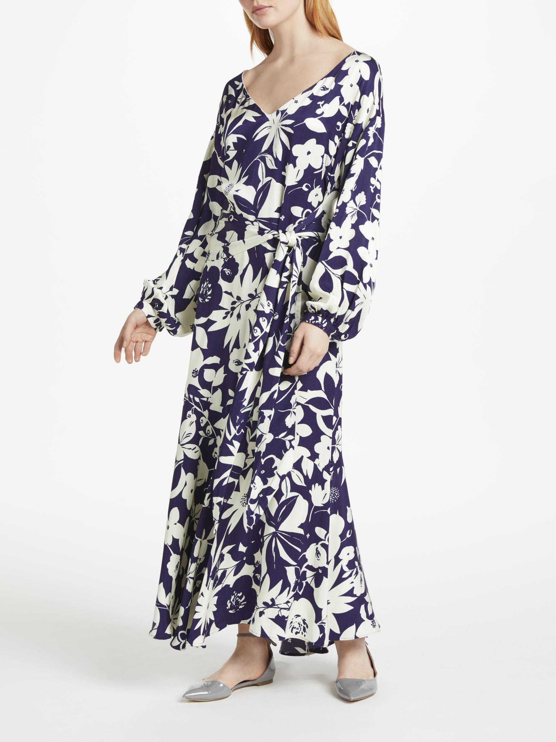 Helix Silhouette Blue Floral Printed Dress Finery Free Shipping 2018 New Clearance 100% Guaranteed Footaction Cheap Online Discount Real rdYyrm