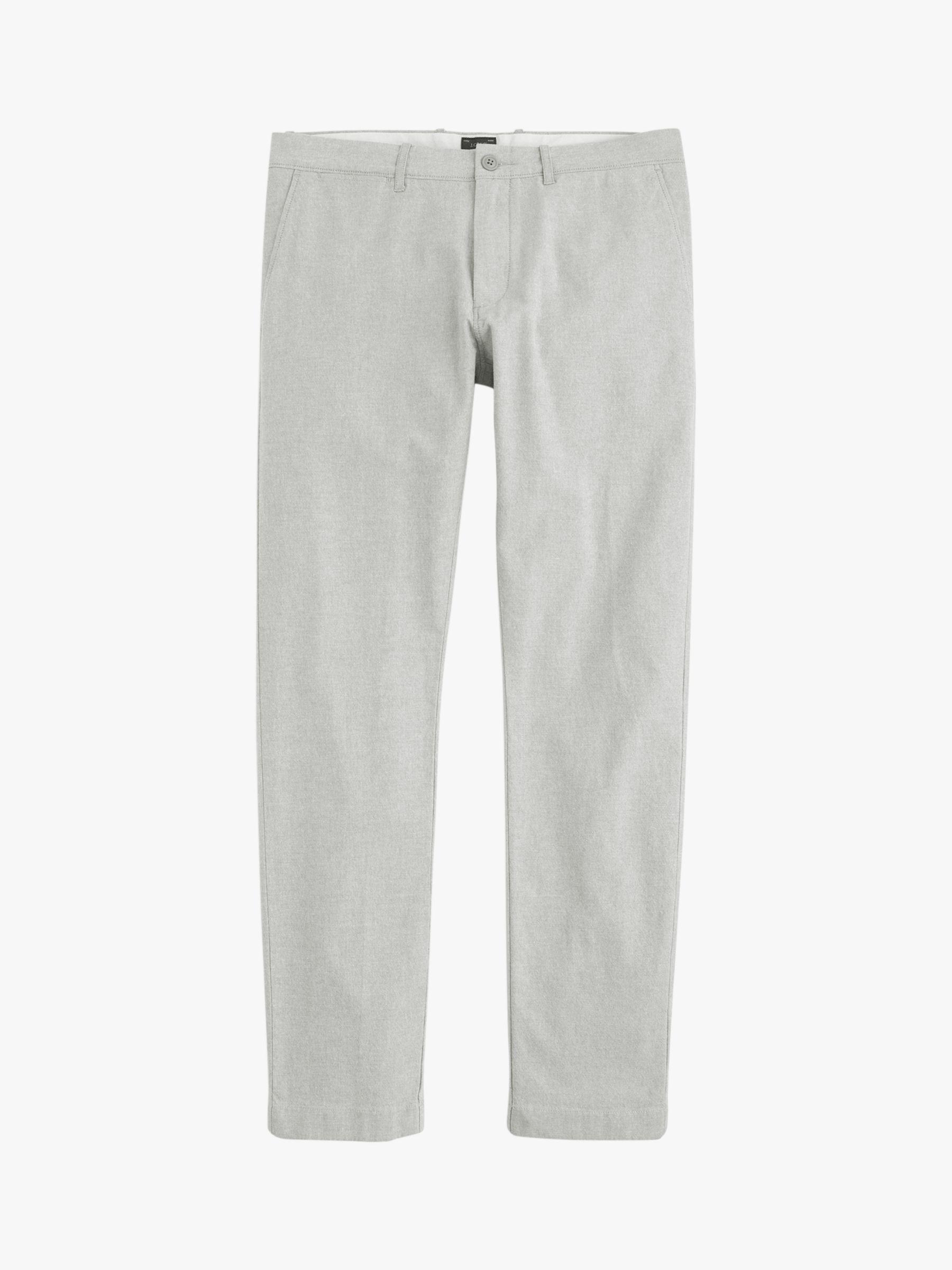 J.Crew Denim Slim Fit Stretch Chambray Chinos in Olive Grey (Grey) for Men