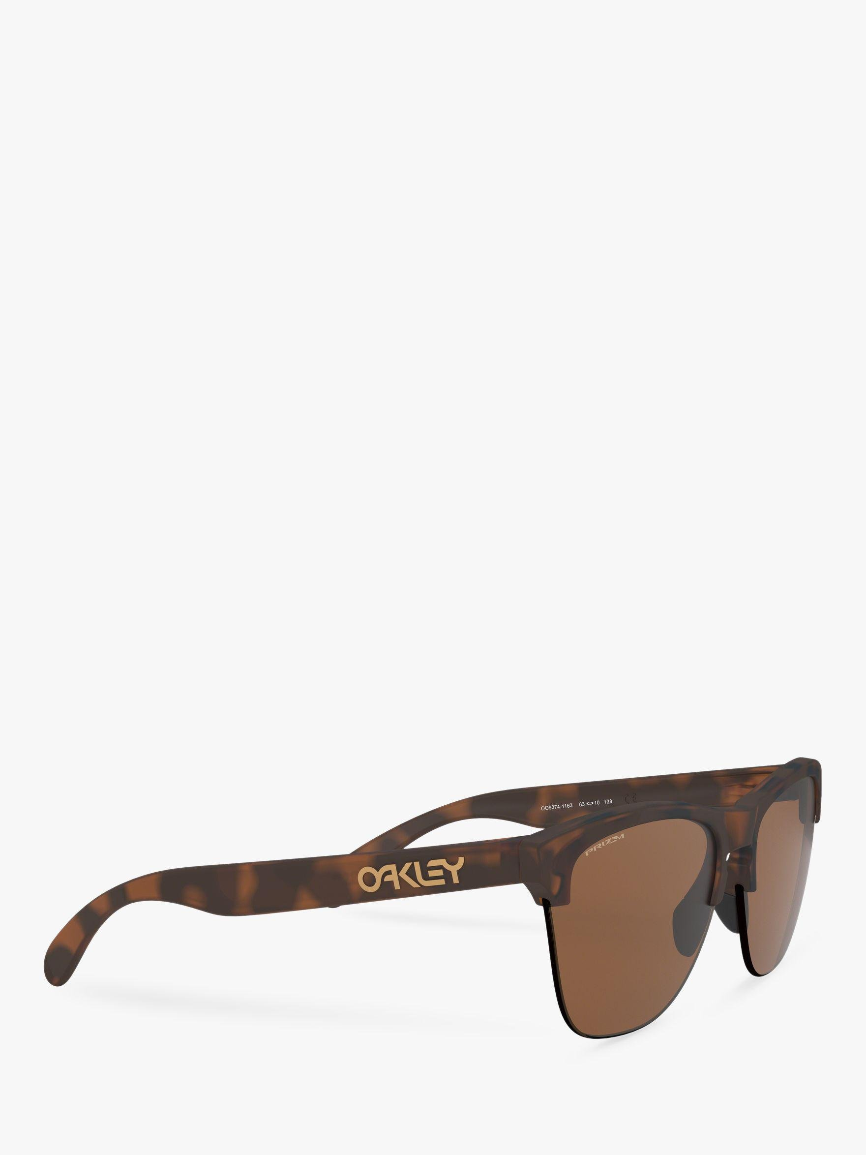 cb195cbc81 Oakley Oo9374 Men s Frogskins Lite Prizm Round Sunglasses in Brown ...