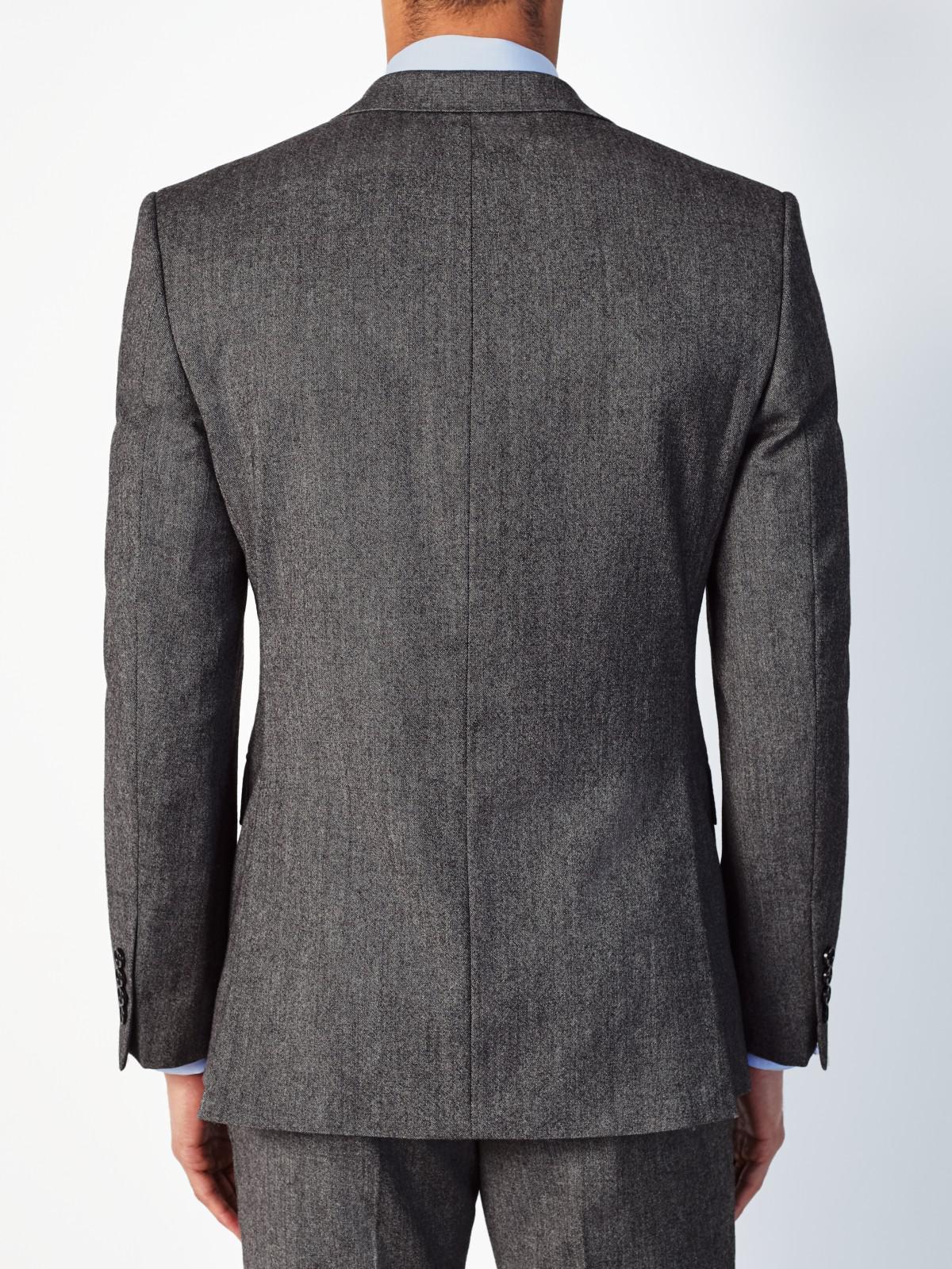 John Lewis Wool Donegal Regular Fit Suit Jacket in Light Grey (Grey) for Men