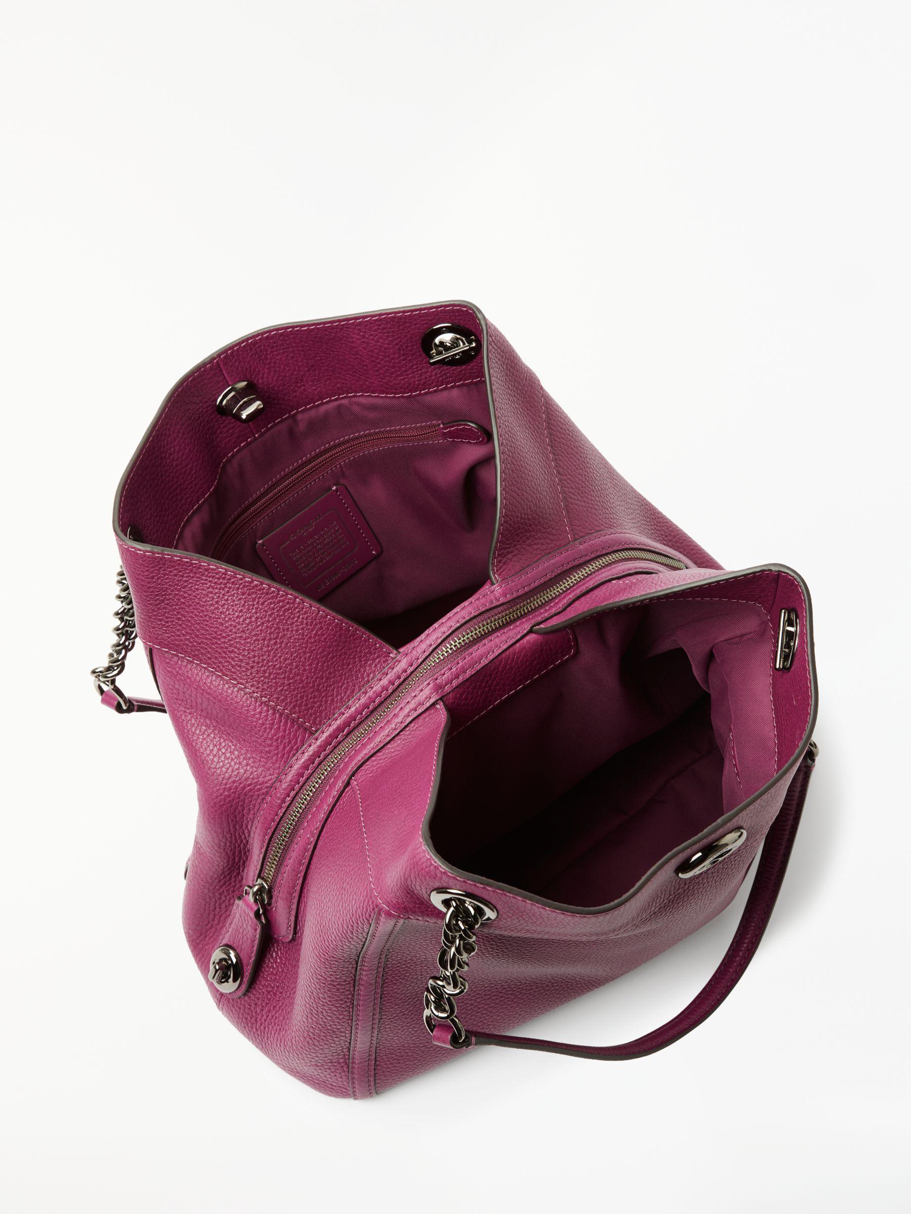 COACH Turnlock Edie Shoulder Bag in Purple - Lyst 63fbaf84077c1