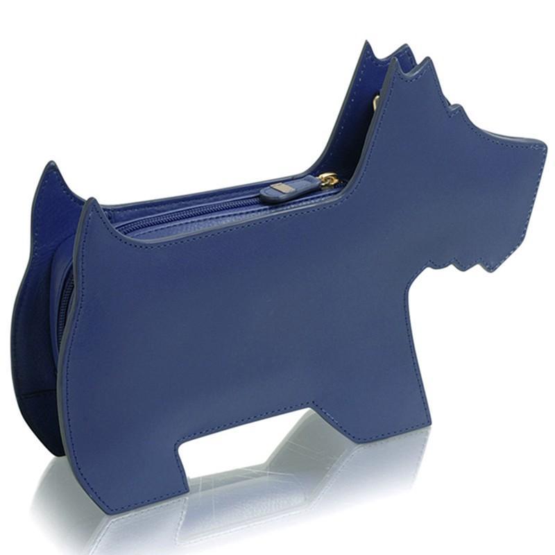 Radley Leather Medium Zip Top Shoulder Bag in Blue