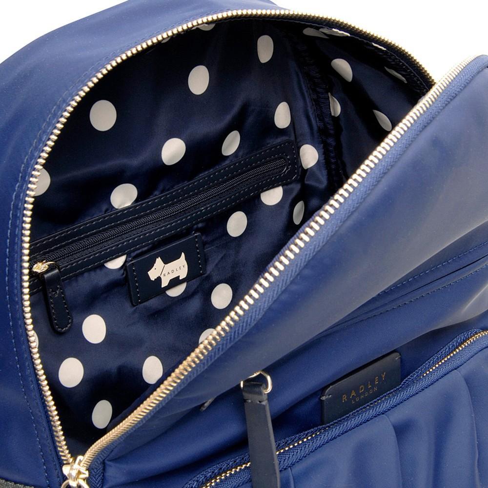 Radley Synthetic Primrose Street Backpack in Navy (Blue)