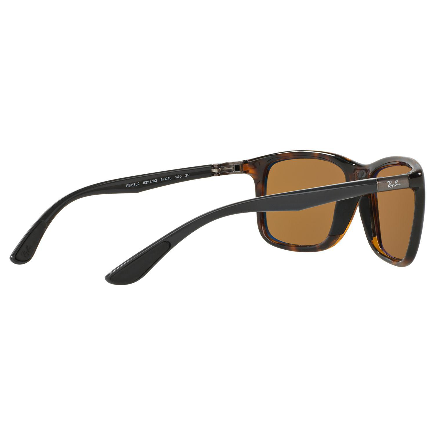 Ray-Ban Synthetic Rb8352 Polarised Square Sunglasses in Tortoise/Brown (Brown) for Men