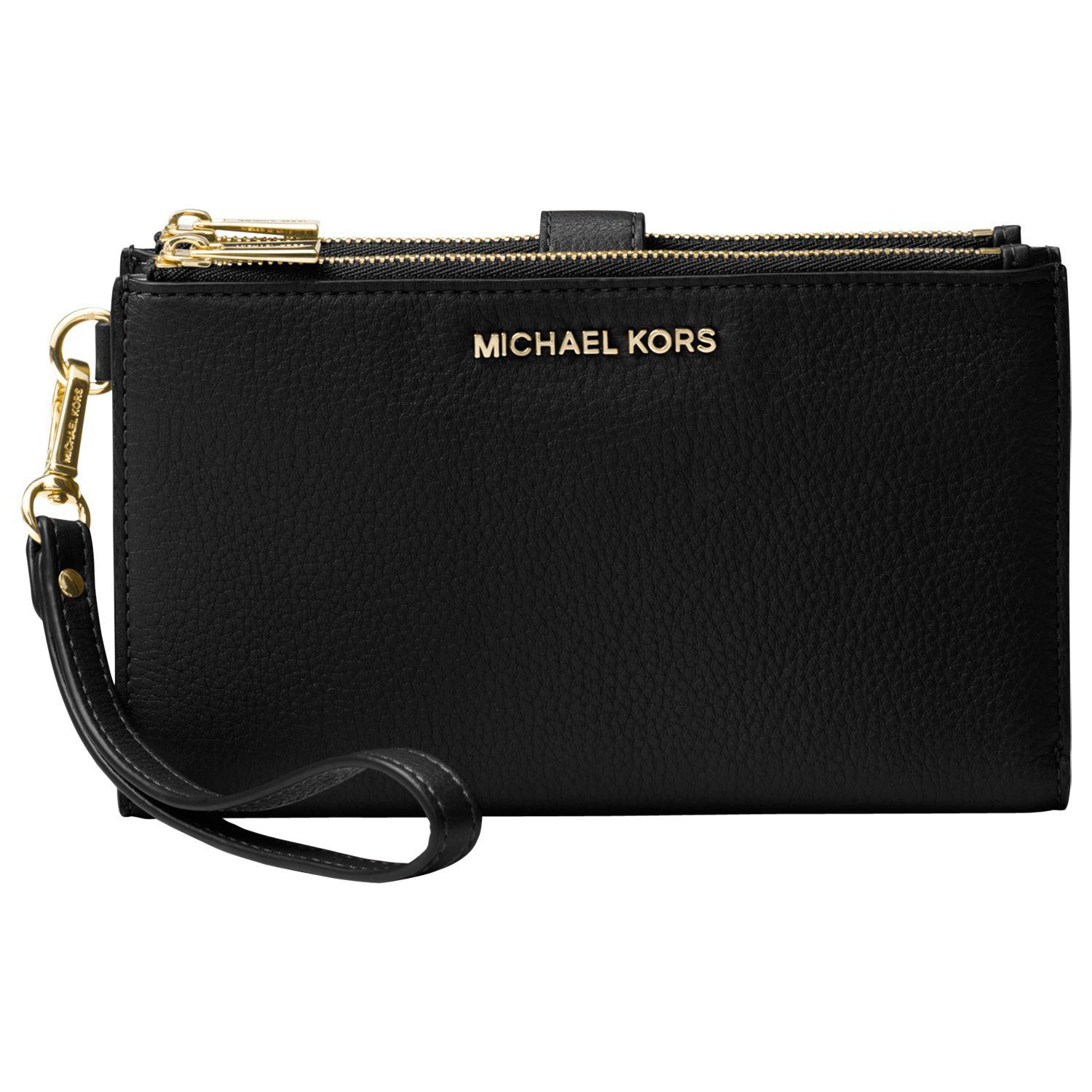 3f7b7eecb2218 Michael Kors - Black Michael Pouches   Clutches Leather Wristlet Purse -  Lyst. View fullscreen