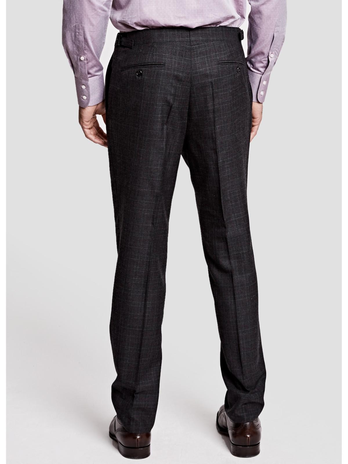 Thomas Pink Laxford Check Wool Flannel Trousers for Men