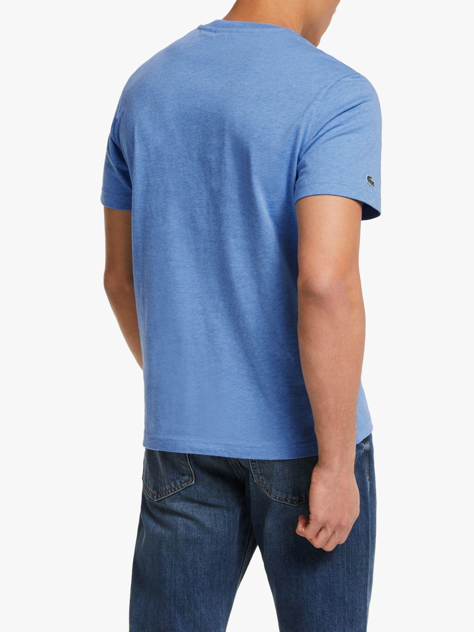 963e0e9c Lacoste Short Sleeve Logo T-shirt in Blue for Men - Lyst