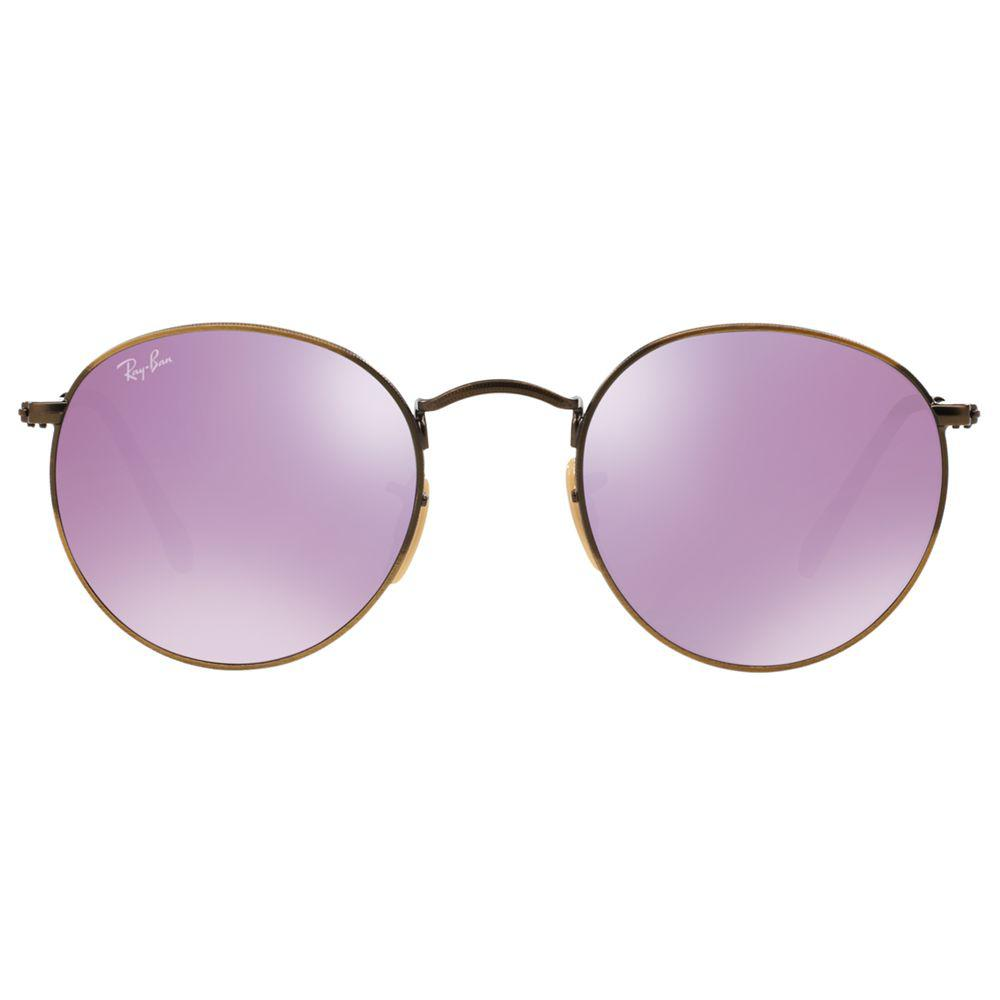 John Lewis Ray-ban Rb3447 Round Flash Sunglasses in Purple