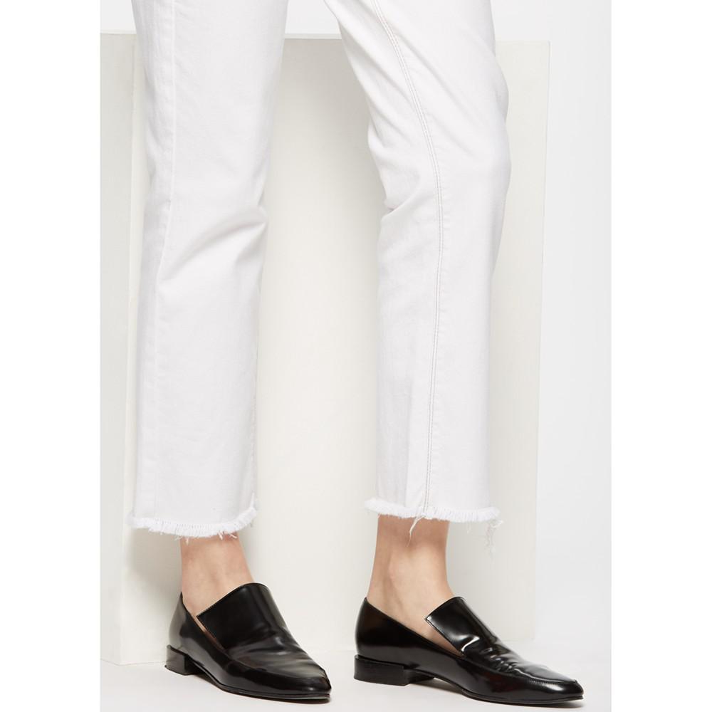 Jigsaw Leather Kittie Loafers in Black for Men
