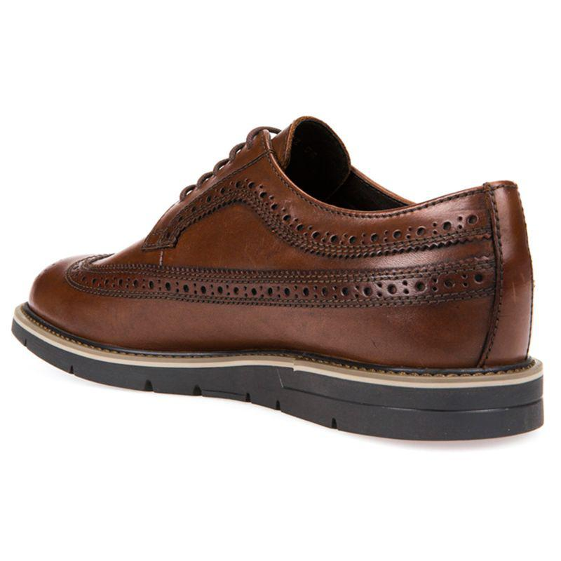 Personificación Iniciativa Sinewi  Geox Leather Uvet Derby Shoes in Cognac (Brown) for Men - Lyst