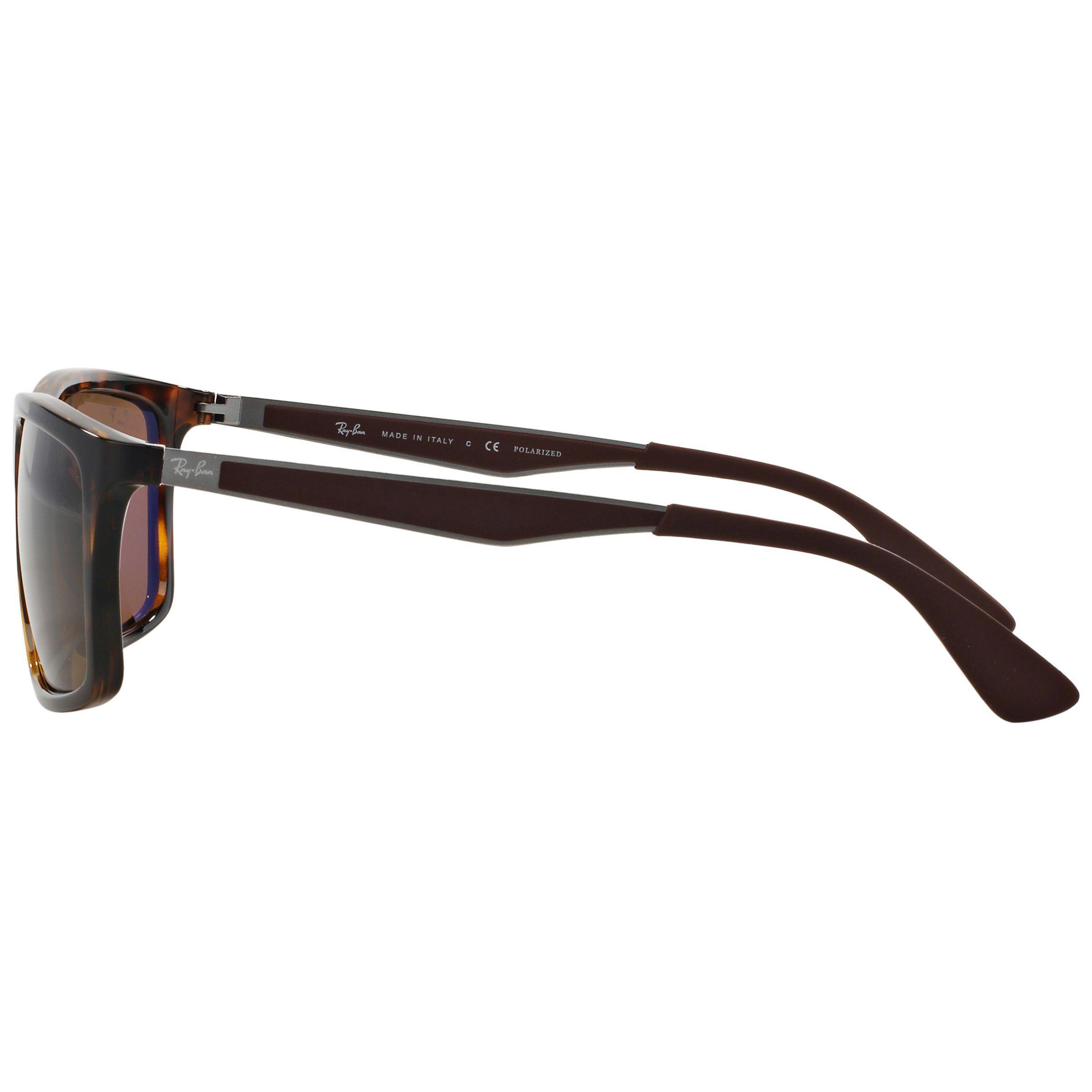 Ray-Ban Rb4228 Polarised Rectangular Framed Sunglasses in Tortoise (Brown) for Men