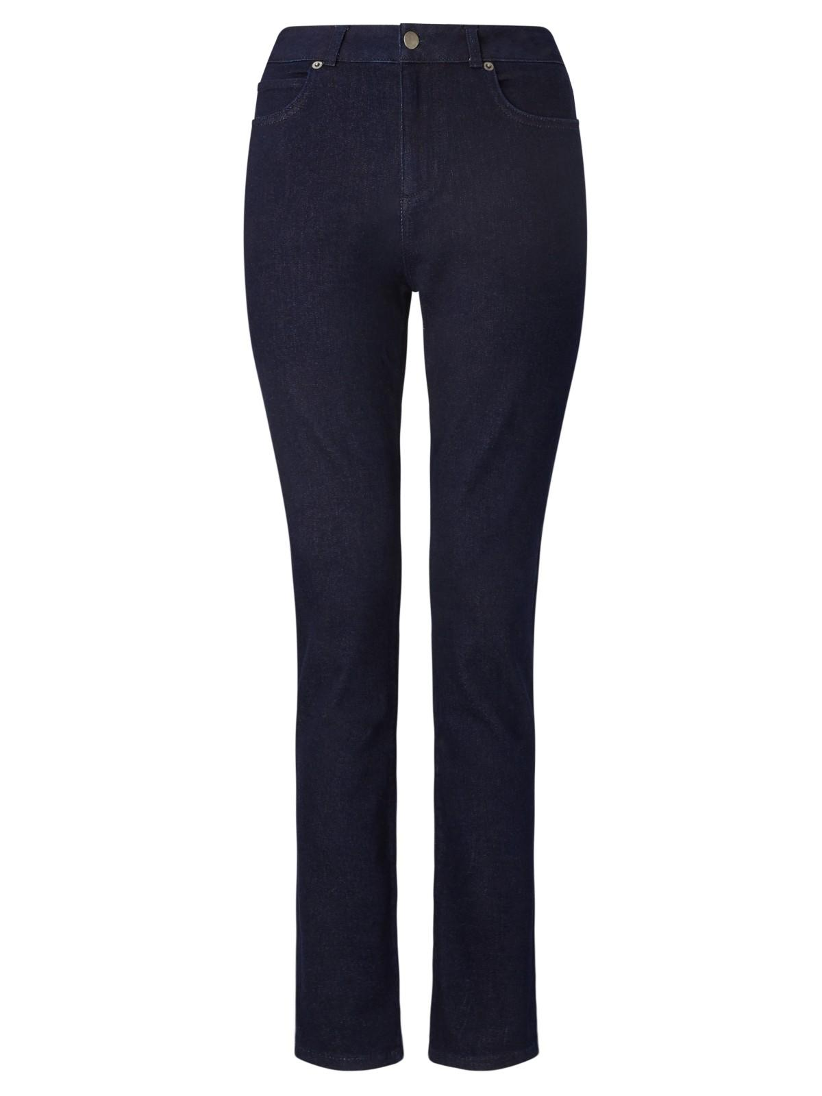 John Lewis Denim Straight Leg Jeans in Indigo (Blue)