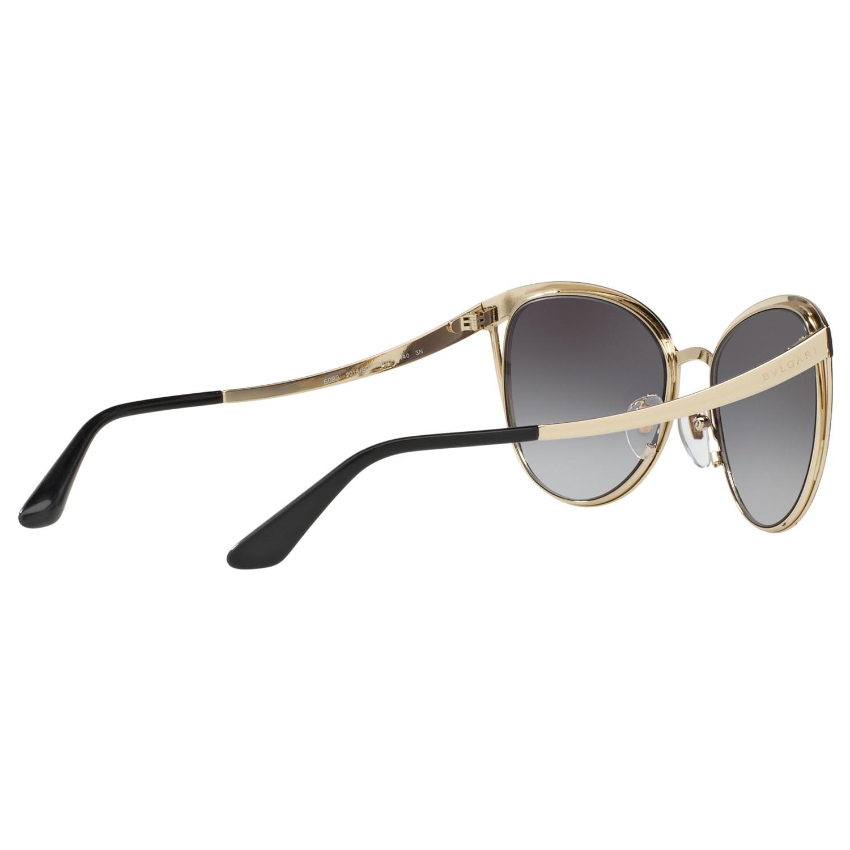 BVLGARI Bv6083 Oval Sunglasses in Black