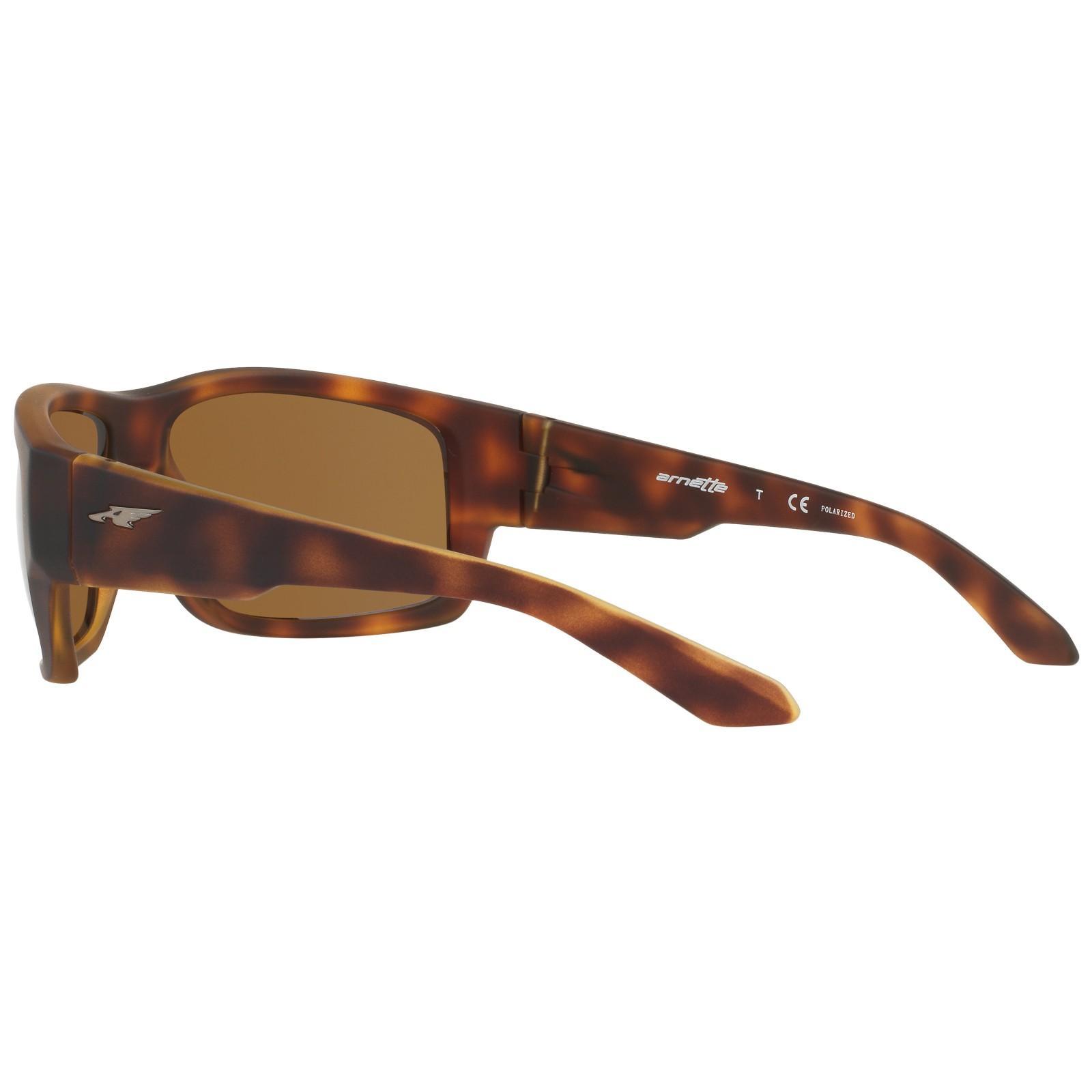 Arnette An4221 Rectangular Polarised Sunglasses in Tortoise (Brown)