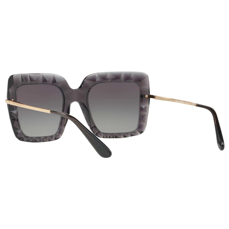 Dolce & Gabbana Dg6111 Stud Texture Outsize Square Sunglasses in Grey
