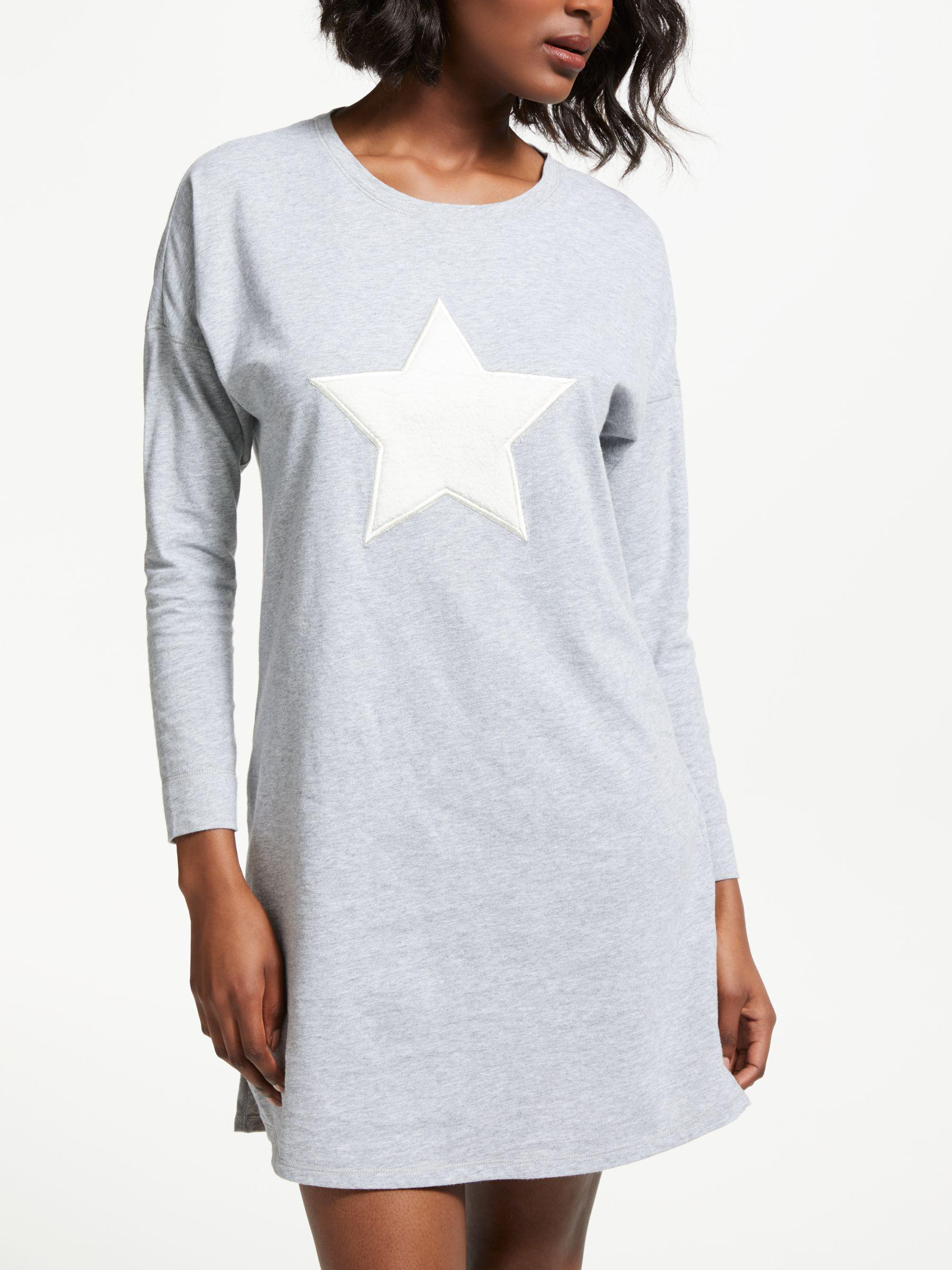 7fb28c1622 John Lewis Furry Star Cotton Nightdress in Gray - Lyst