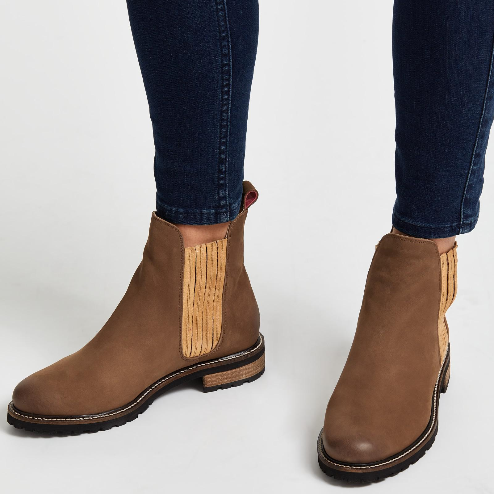 f59cea9dcd9 Joules Brown Clarendon Leather Chelsea Boots