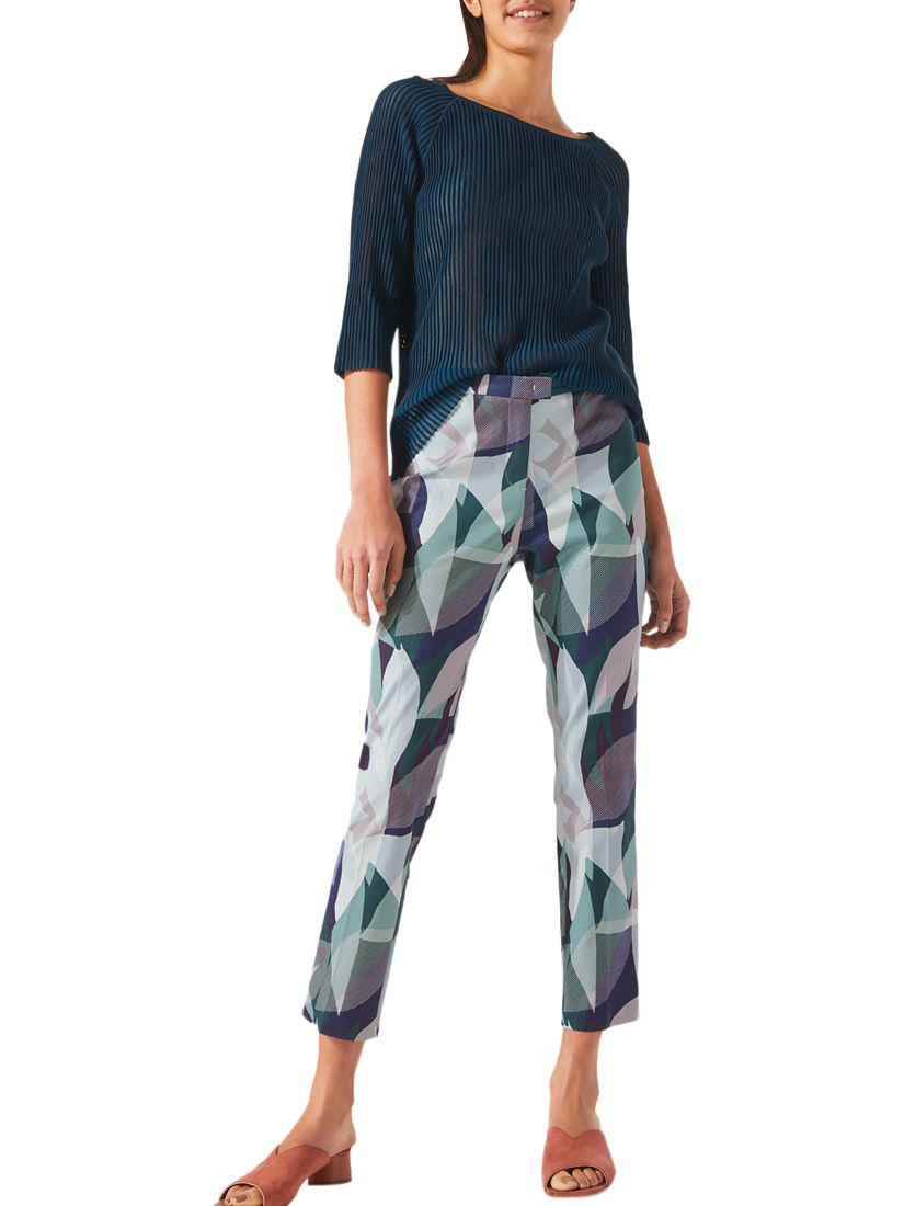 Woven Leaves Cigarette Trousers Jigsaw DnT2I