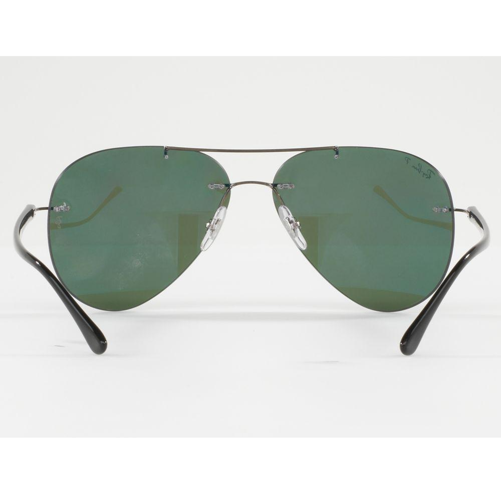 Ray-Ban Rb8058 Polarised Frameless Aviator Sunglasses in Green for Men