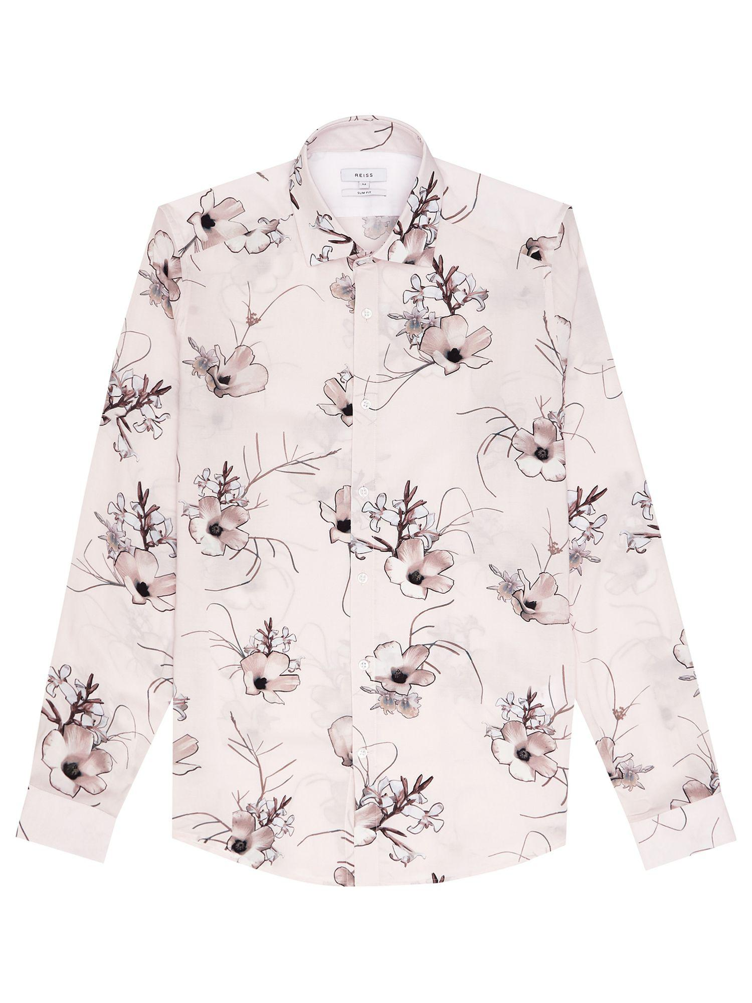 Reiss Synthetic Ballet - Floral Shirt in Soft Pink (Pink) for Men