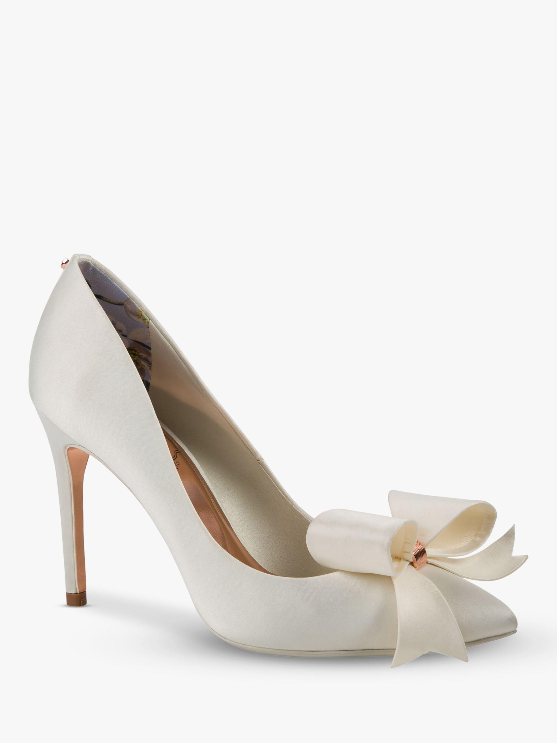 c9a771c4731 Ted Baker Skalet 2 Bow Stiletto Heel Court Shoes in White - Lyst