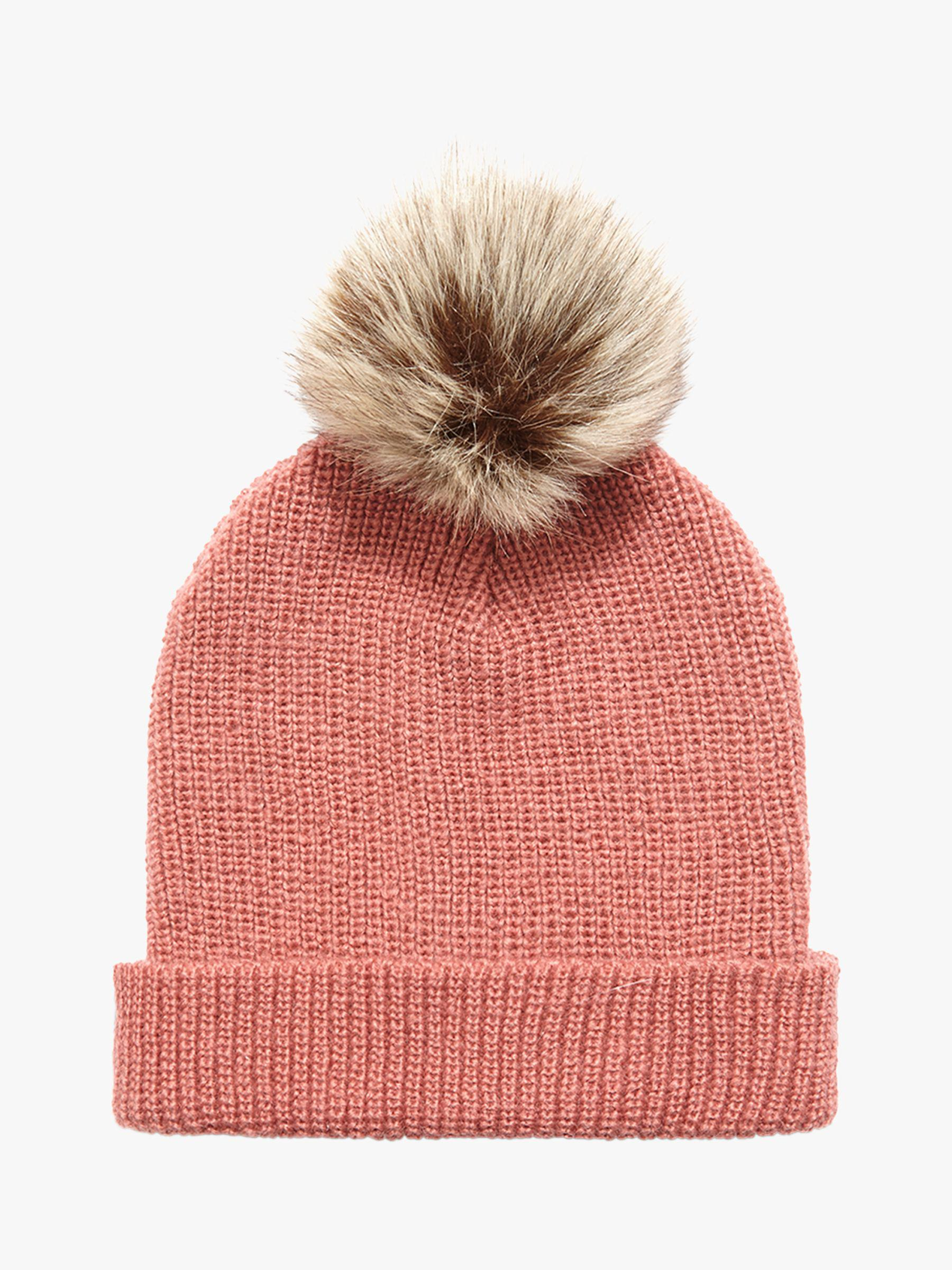 0e345dd257de9 Phase Eight Violetta Pom Pom Beanie Hat in Pink - Lyst