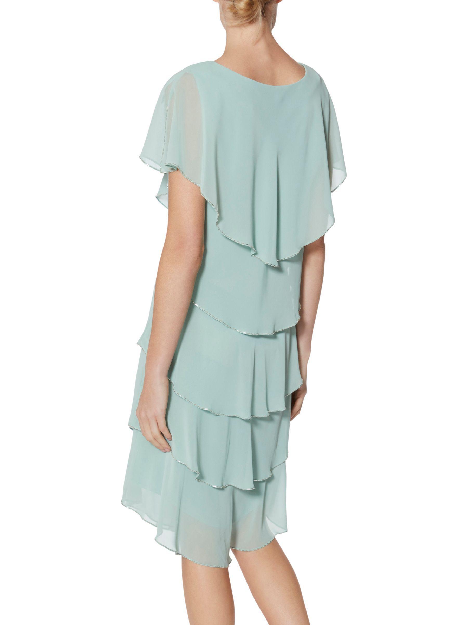 Lyst - John Lewis Gina Bacconi Roxanna Cape Dress in Blue
