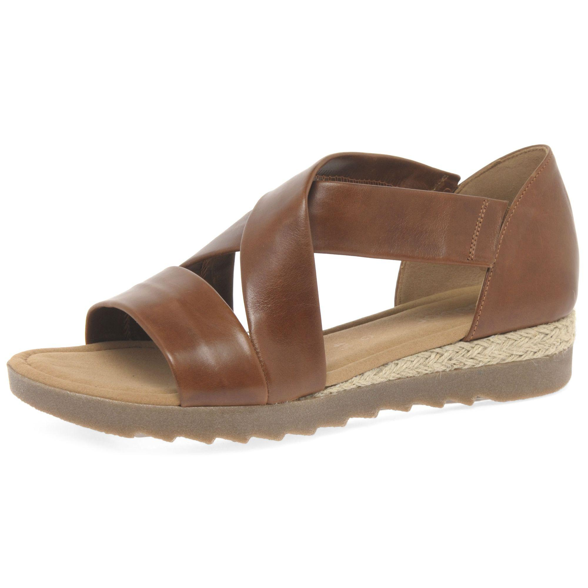2e027ceb4dc John Lewis Gabor Promise Wide Fit Sandals in Brown - Lyst
