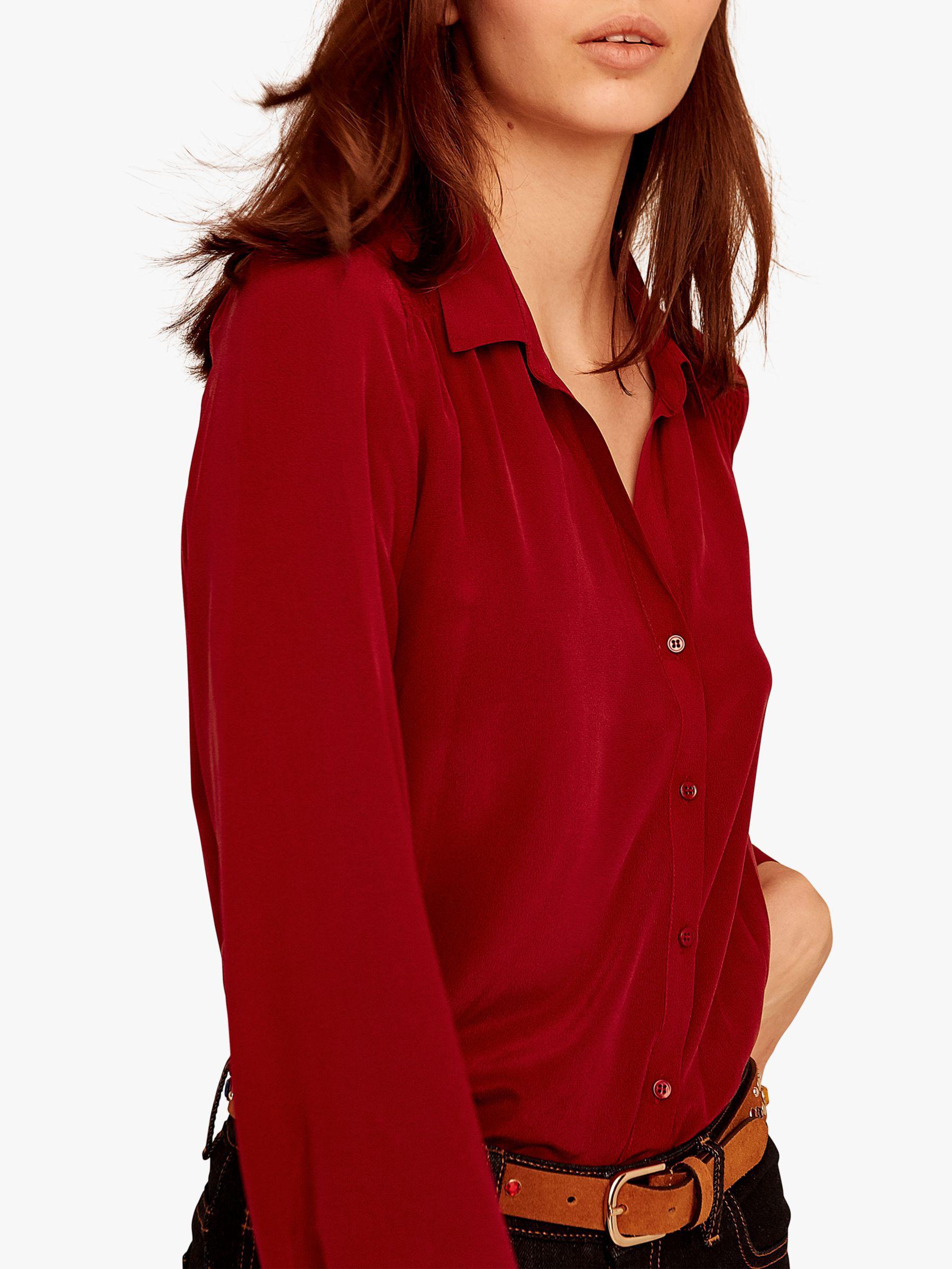 9c6a59fc44869f Gerard Darel Laetitia Silk Blouse in Red - Save 23% - Lyst