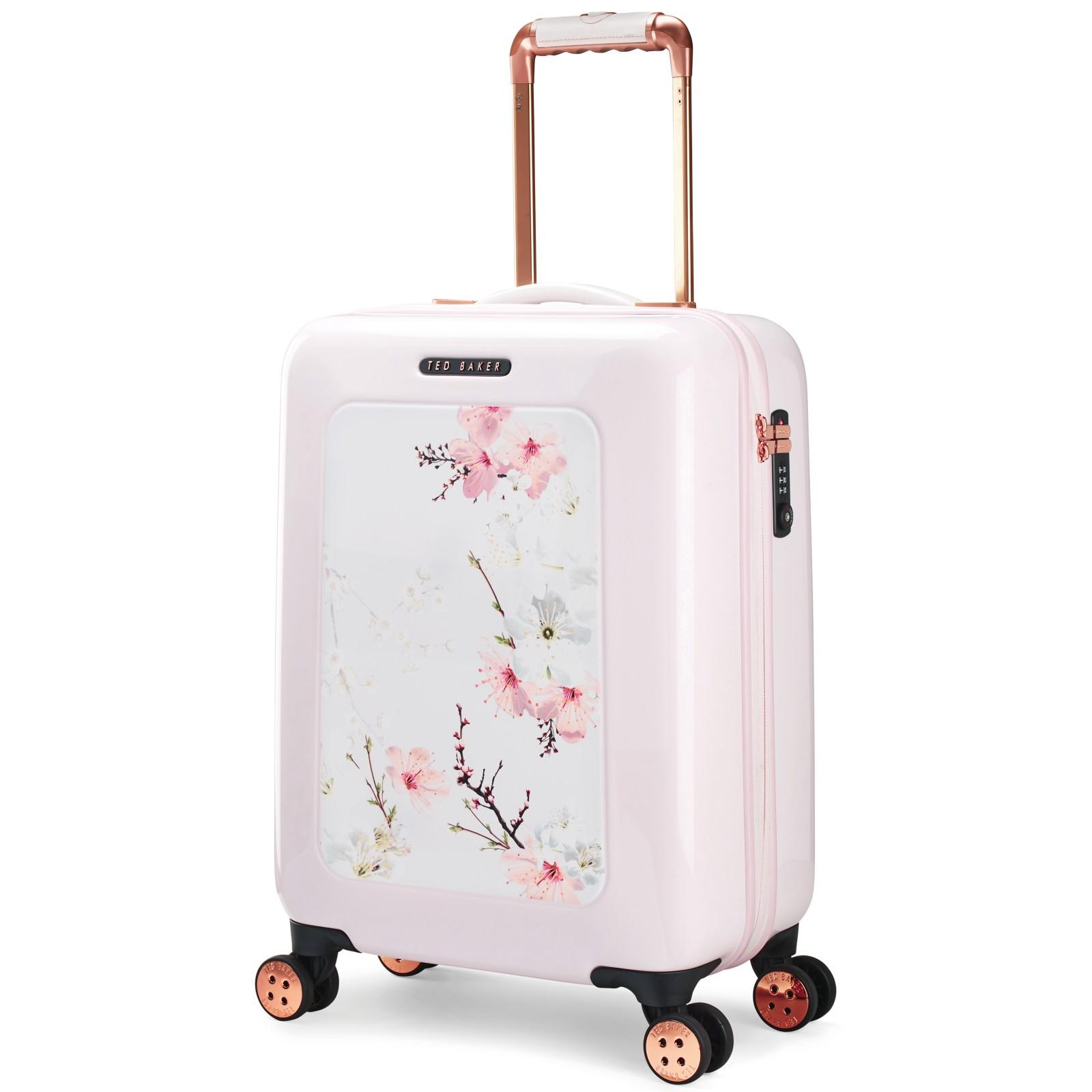 481a5f45651fcb Ted Baker Oriental Blossom 54cm 4-wheel Cabin Case in Pink - Lyst