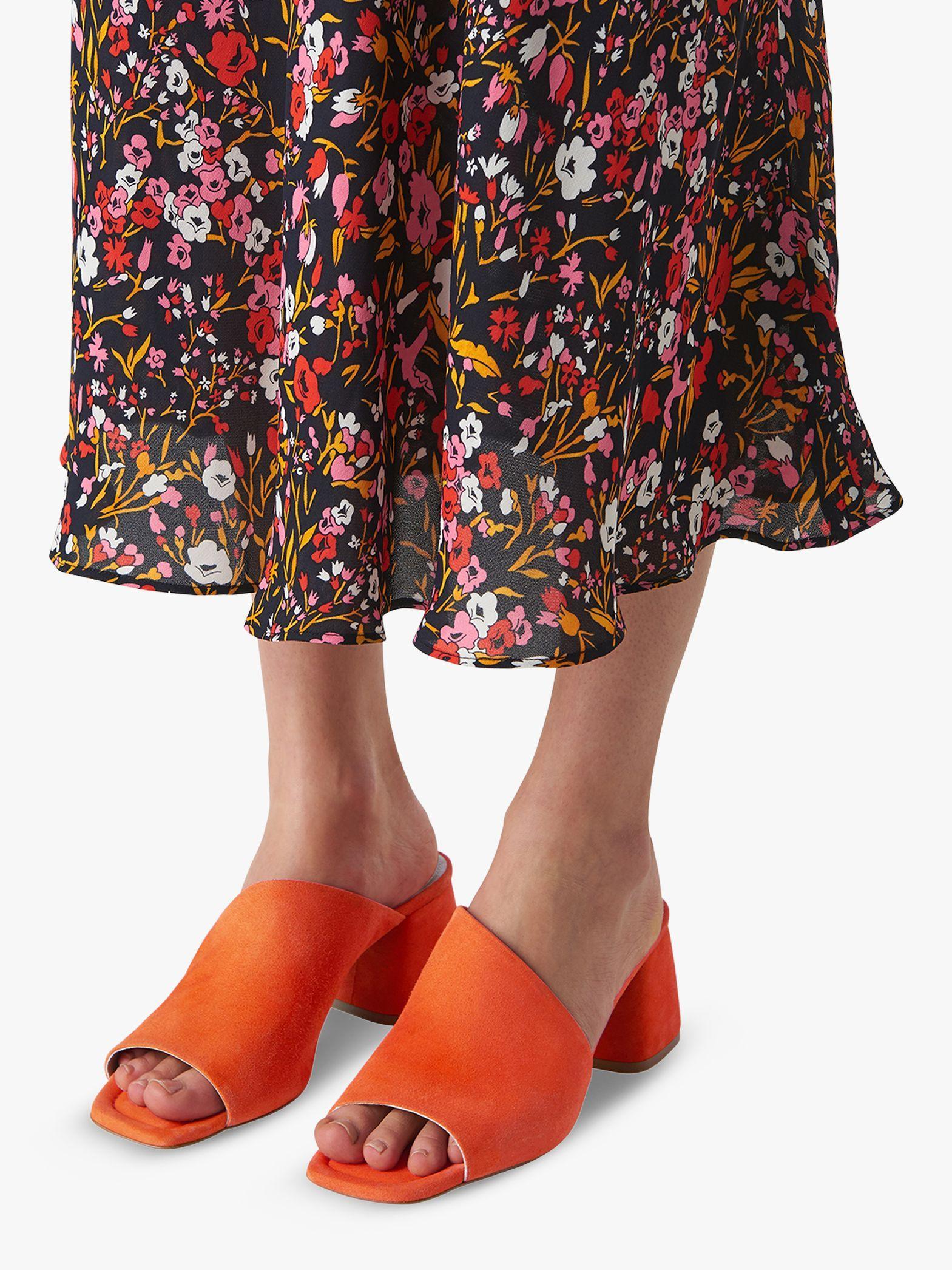18bba4187fd7 Whistles - Red Arcade Asymmetric Block Heel Sandals - Lyst. View fullscreen