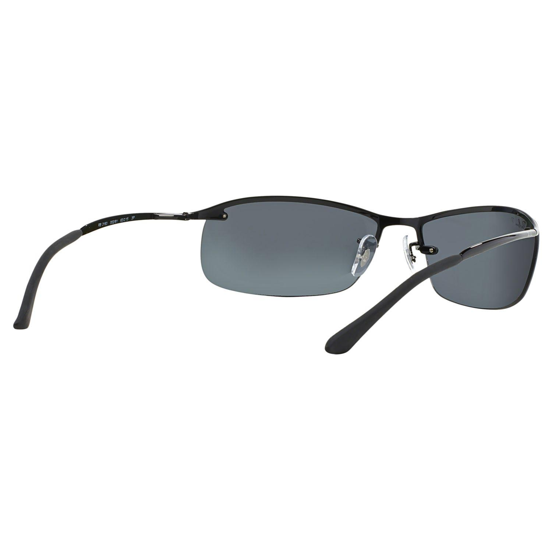 Ray-Ban Rb3183 Polarised Rectangular Sunglasses in Black/Grey (Grey) for Men