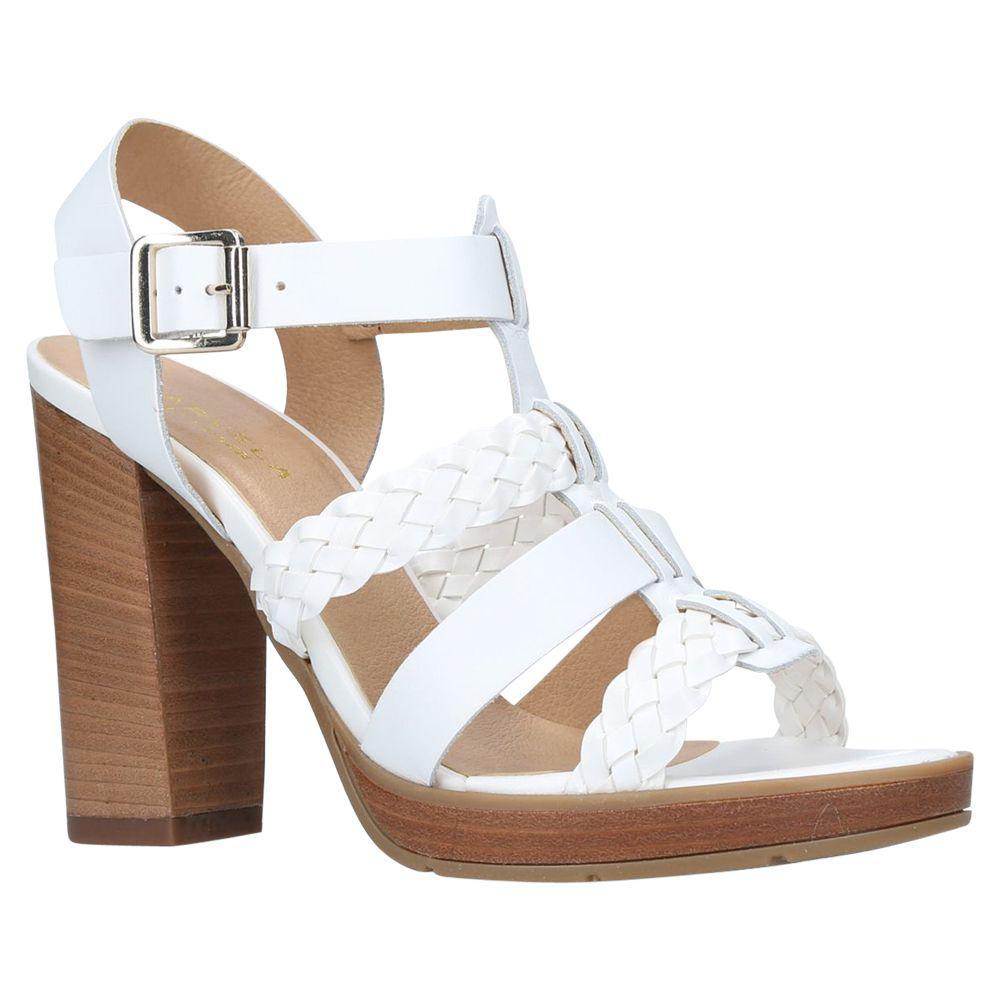 c275526ae9a Carvela Kurt Geiger Krill Block Heeled Sandals in White - Lyst